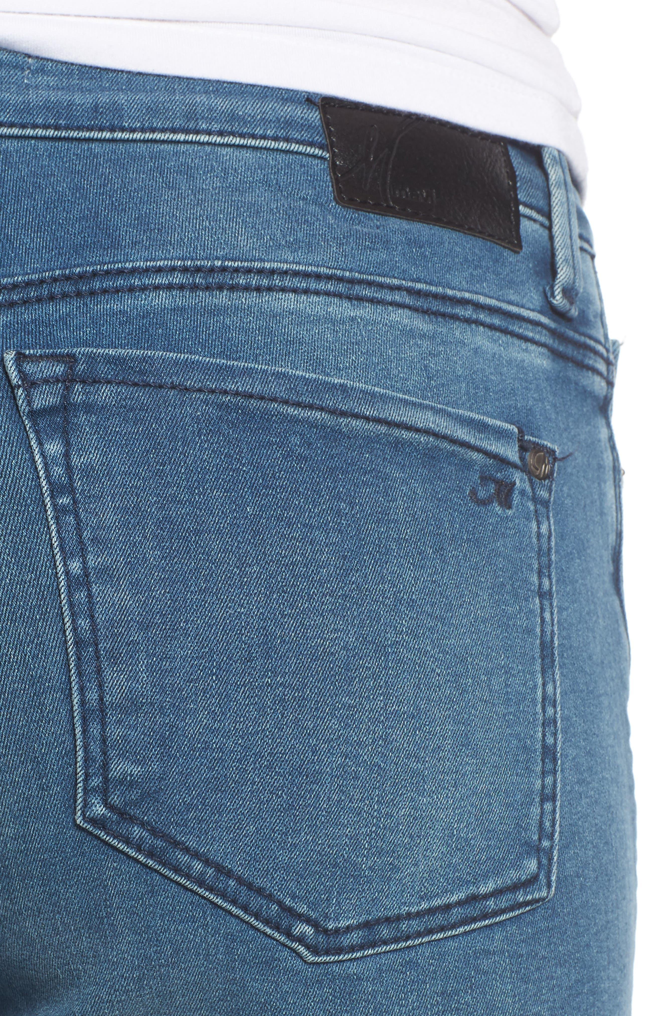 Kendra High Waist Straight Leg Jeans,                             Alternate thumbnail 4, color,                             420