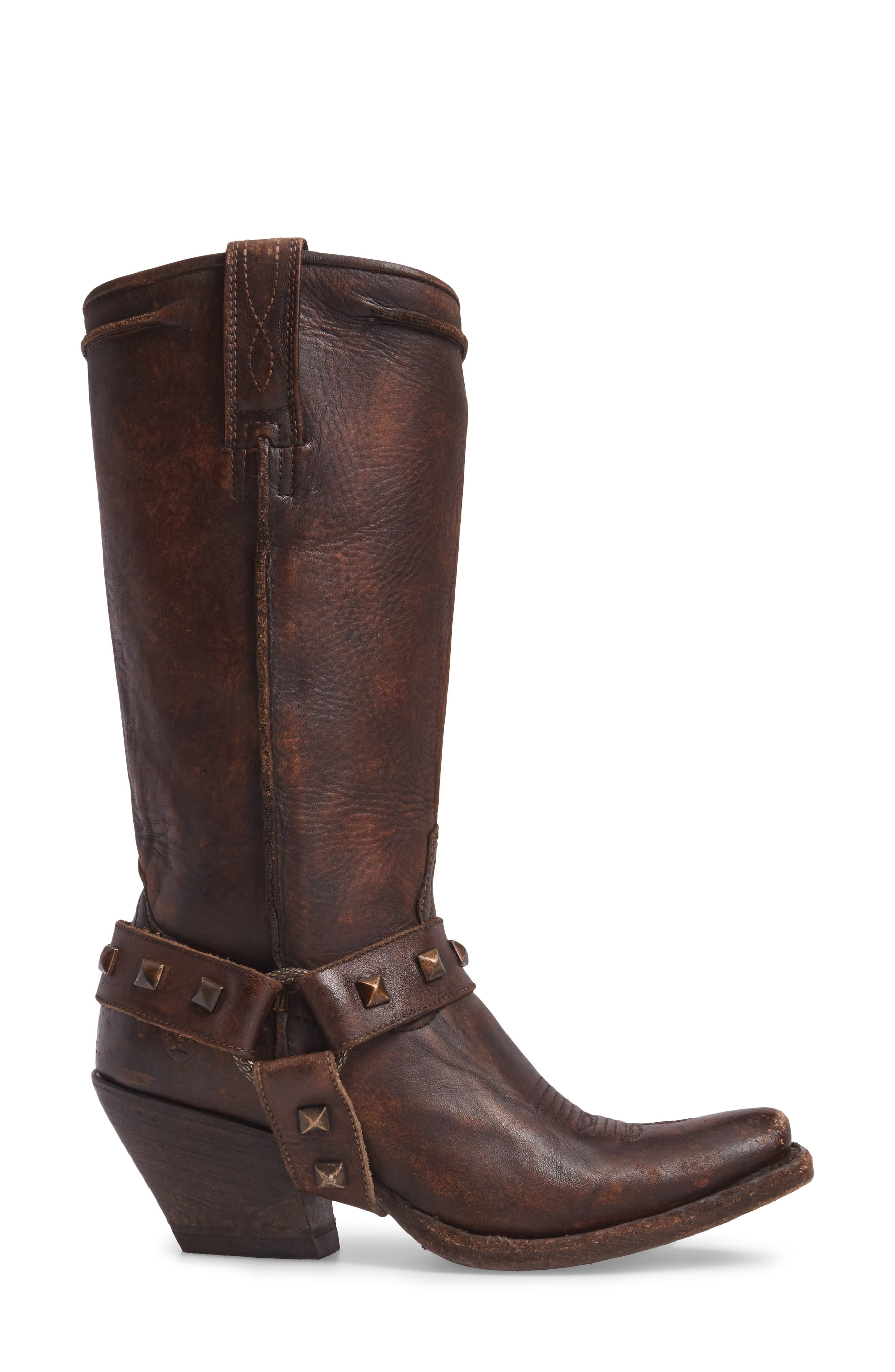 Rowan Western Harness Boot,                             Alternate thumbnail 3, color,                             NATURAL NORWOOD LEATHER