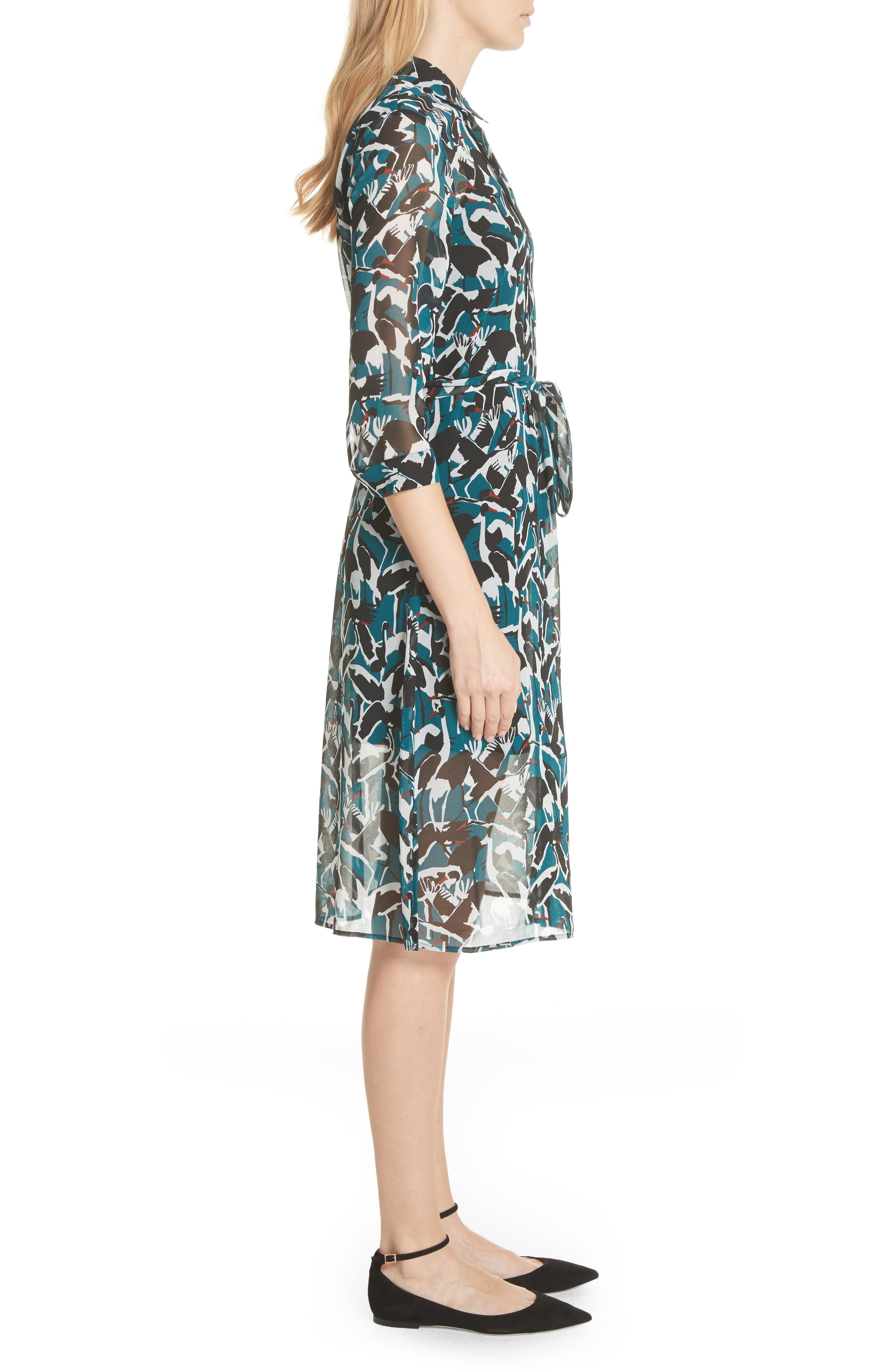 Colour by Numbers Crane Shirtdress,                             Alternate thumbnail 3, color,                             440