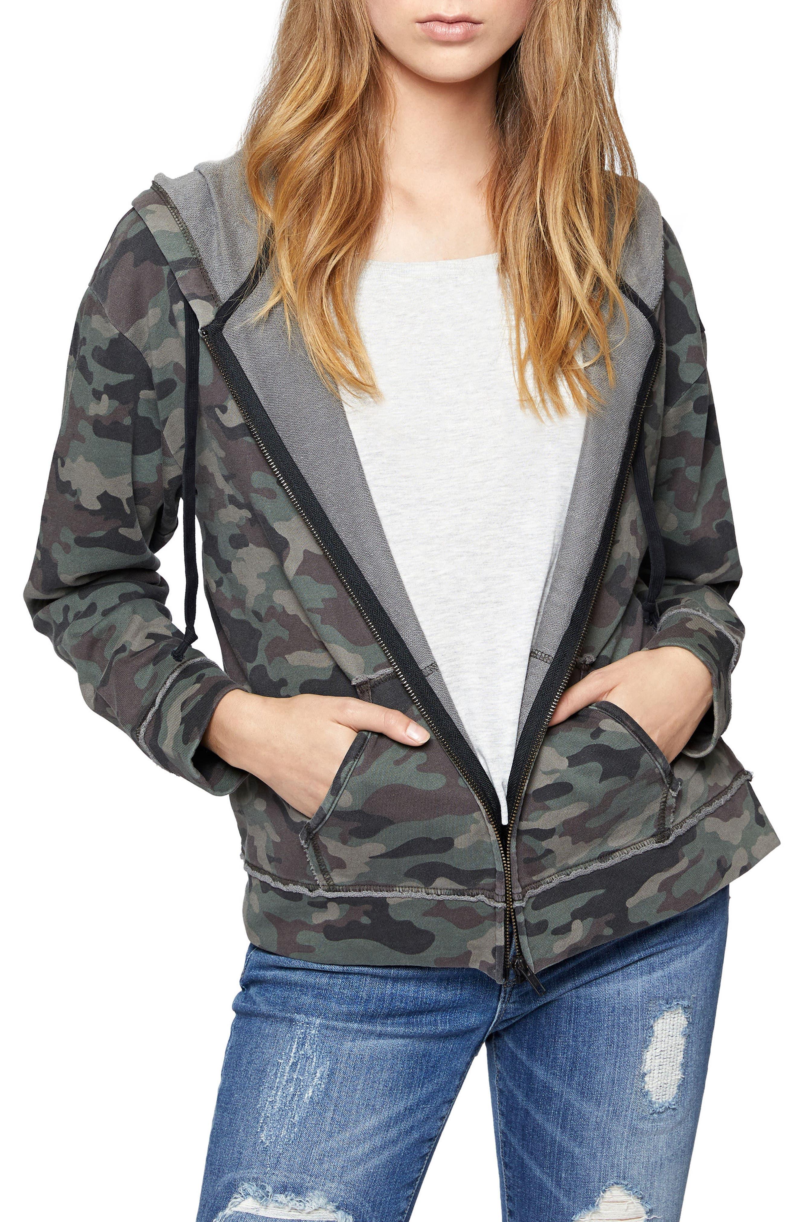 Camo Peace Trooper Hoodie Jacket,                         Main,                         color,