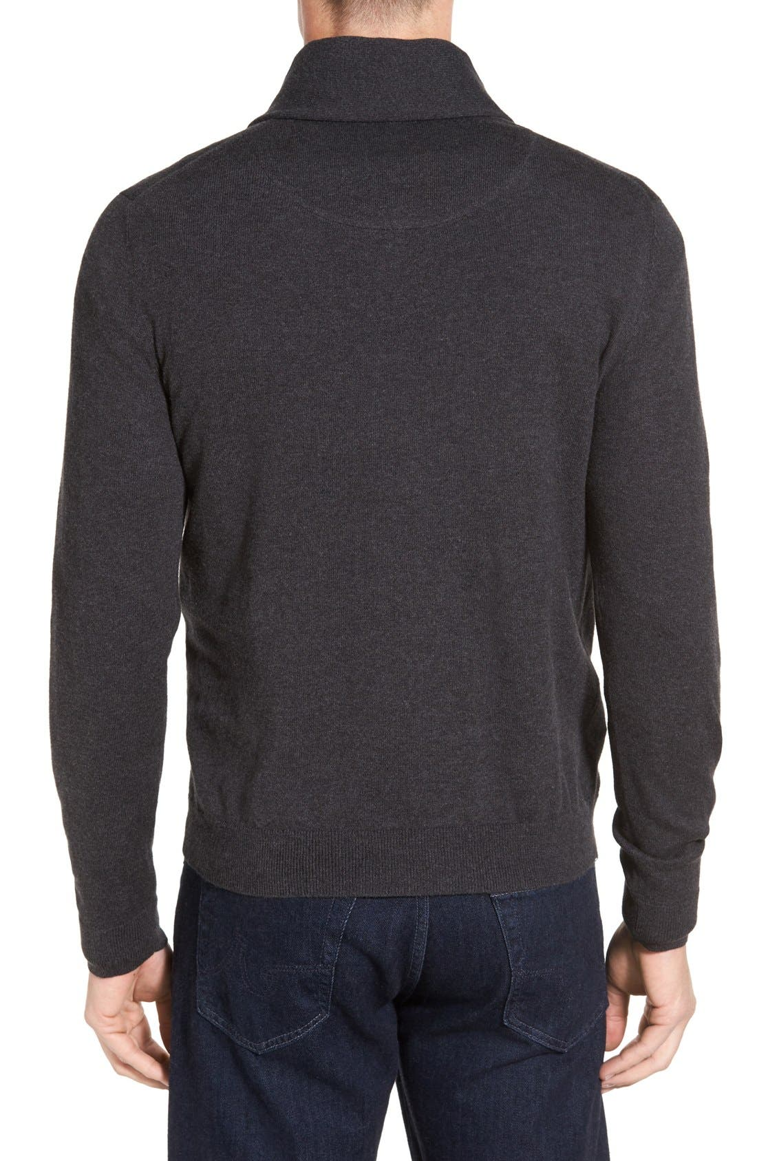 Men's Shop Shawl Collar Sweater,                             Alternate thumbnail 2, color,                             021