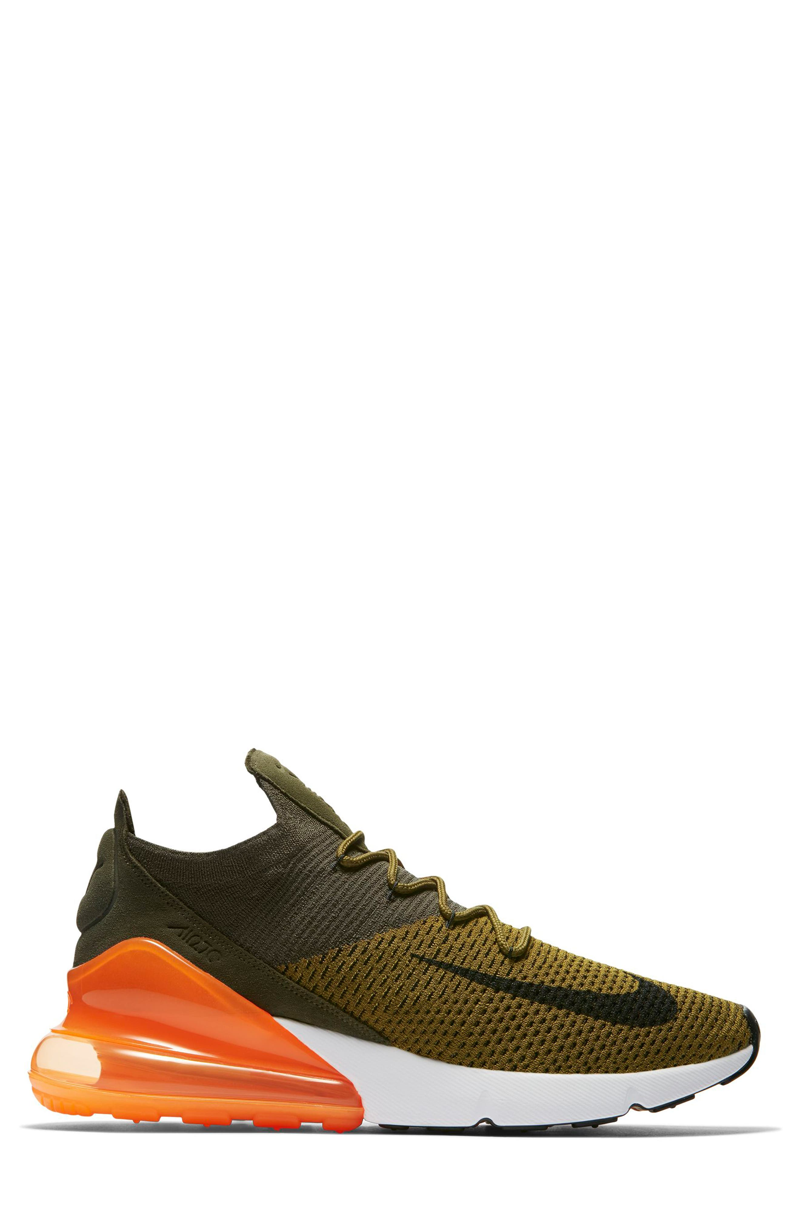 Air Max 270 Flyknit Sneaker,                             Alternate thumbnail 11, color,