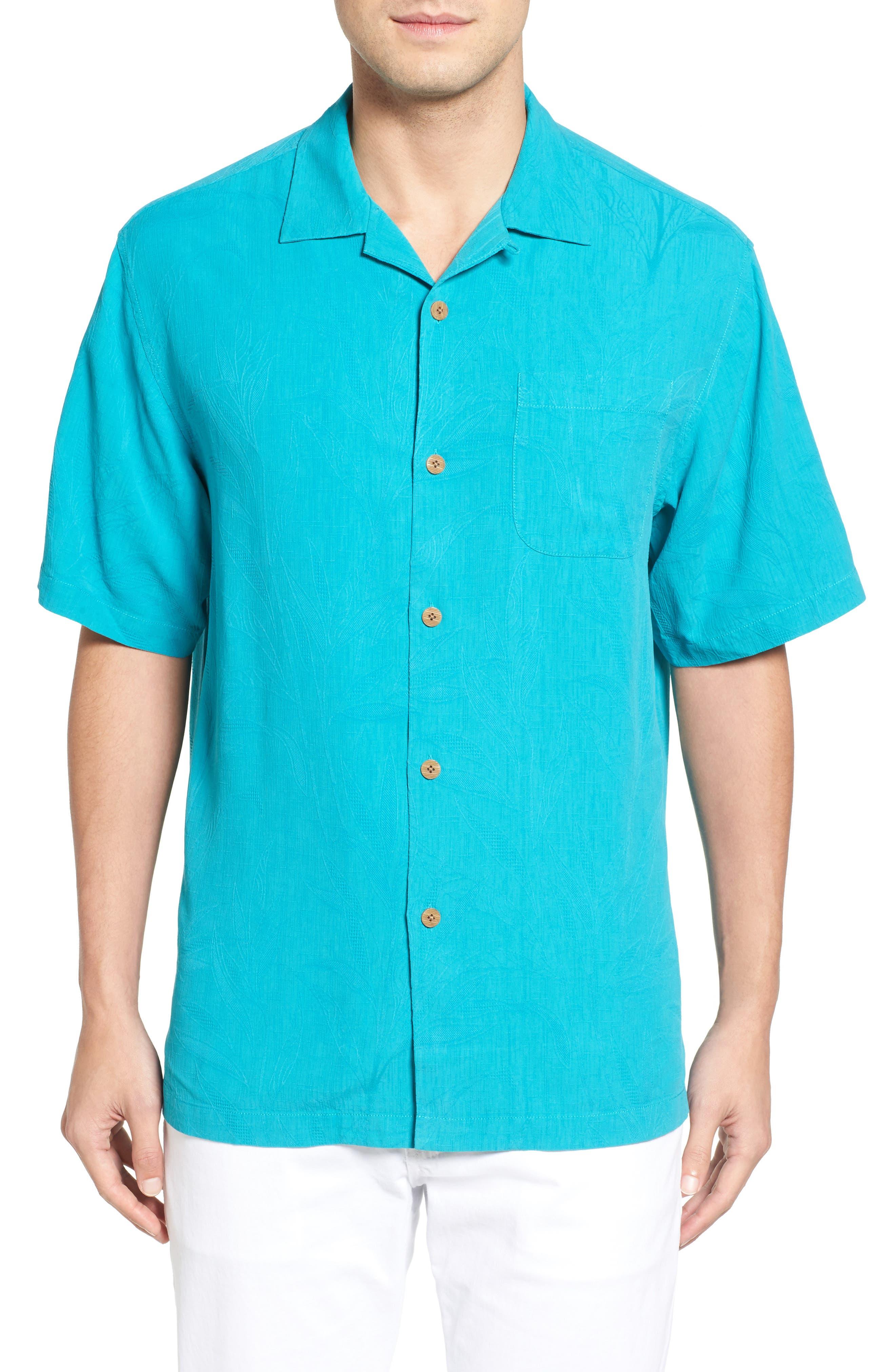 Islander Fronds Silk Camp Shirt,                             Main thumbnail 6, color,