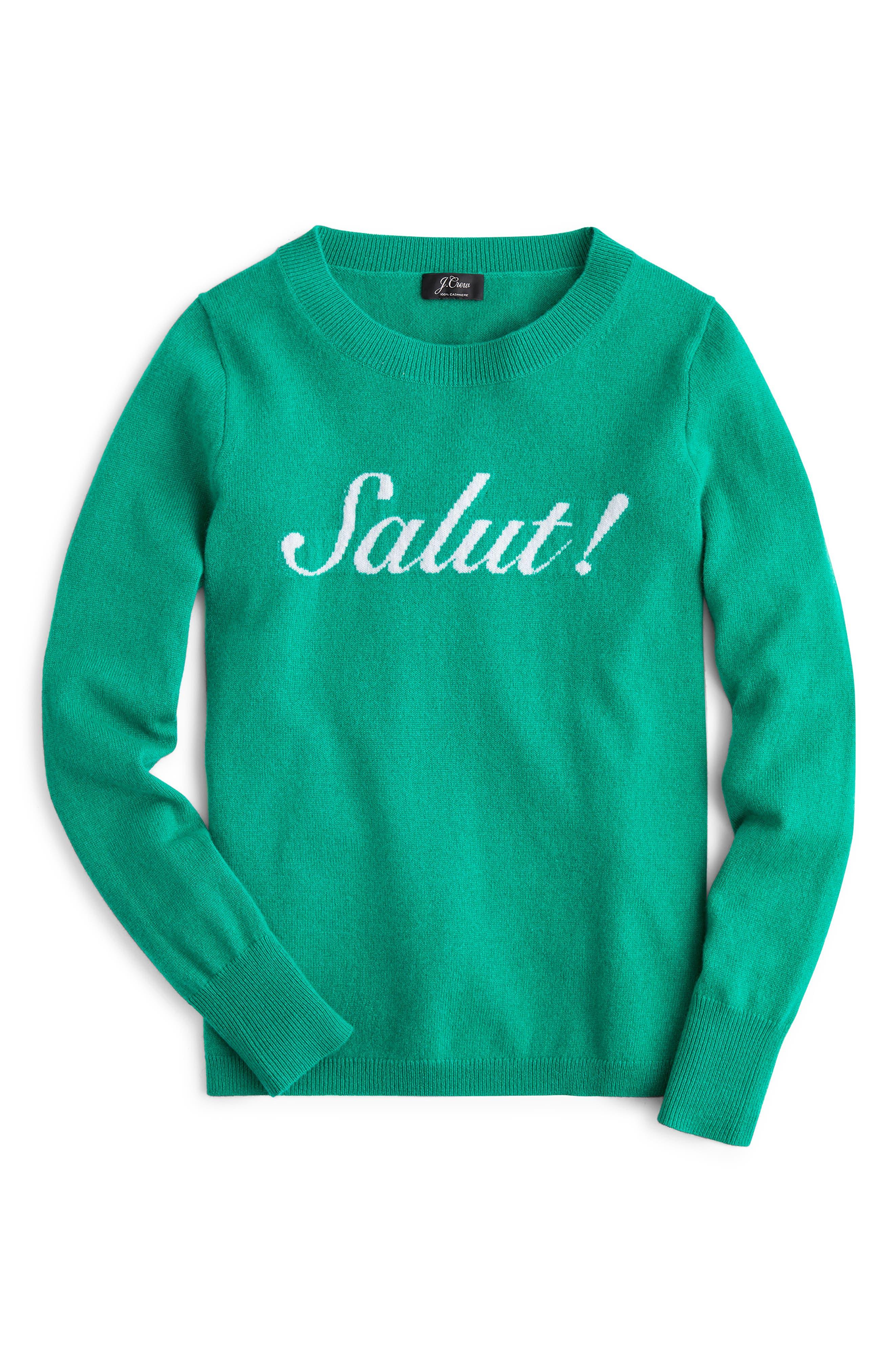 Salut Cashmere Sweater,                             Main thumbnail 1, color,                             300