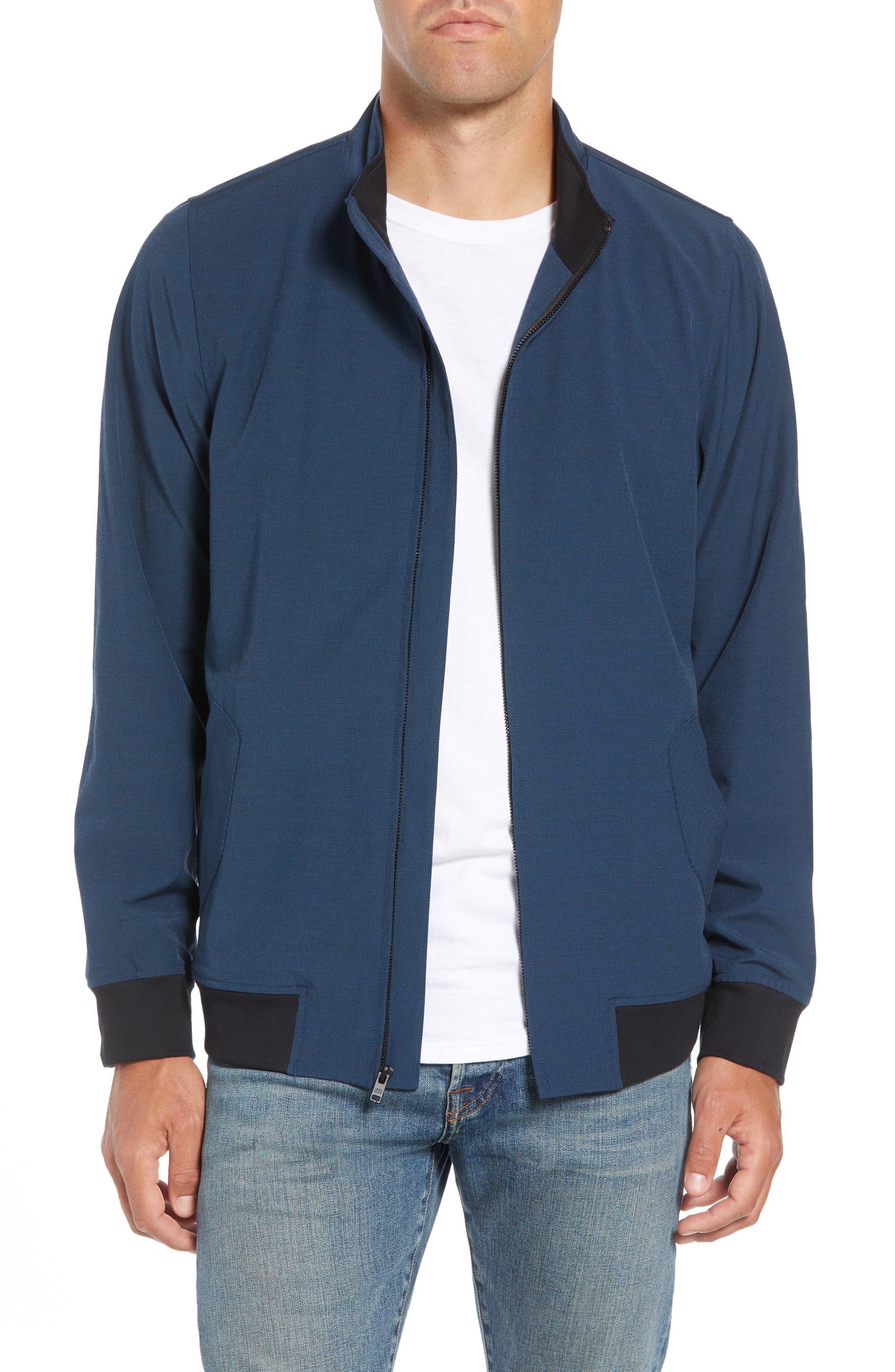 Ridgley Regular Fit Jacket,                         Main,                         color, BLUE WING TEAL/ BLACK