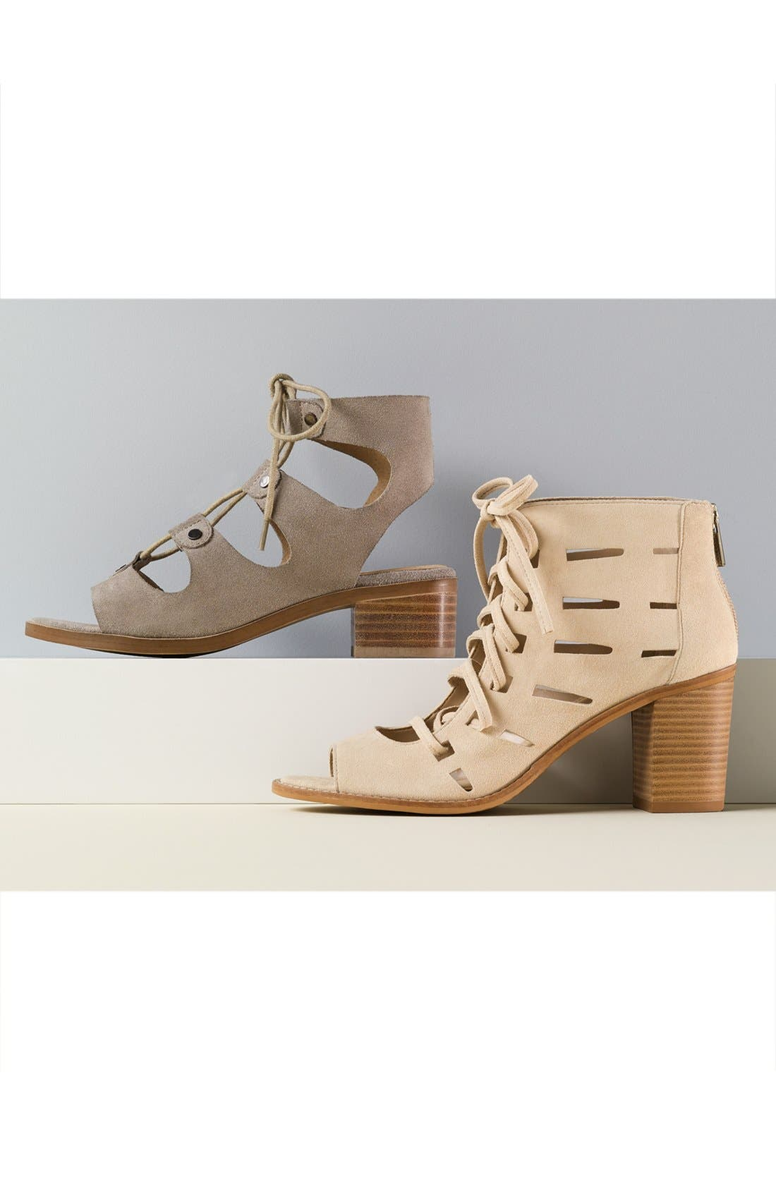 VINCE CAMUTO,                             Tressa Perforated Lace-Up Sandal,                             Alternate thumbnail 5, color,                             001