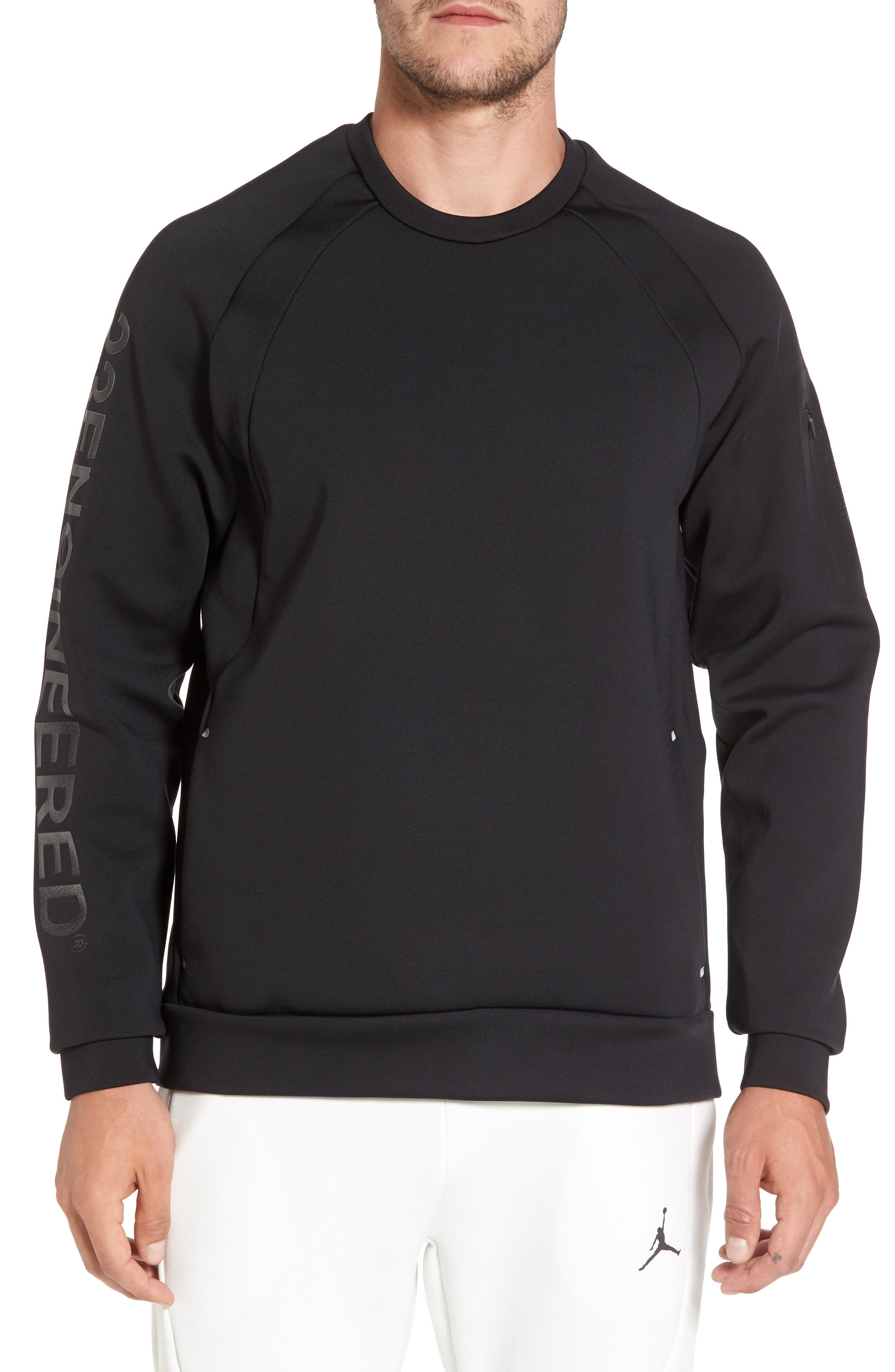 Sportswear Flight Tech Shield Crewneck,                             Main thumbnail 1, color,                             010