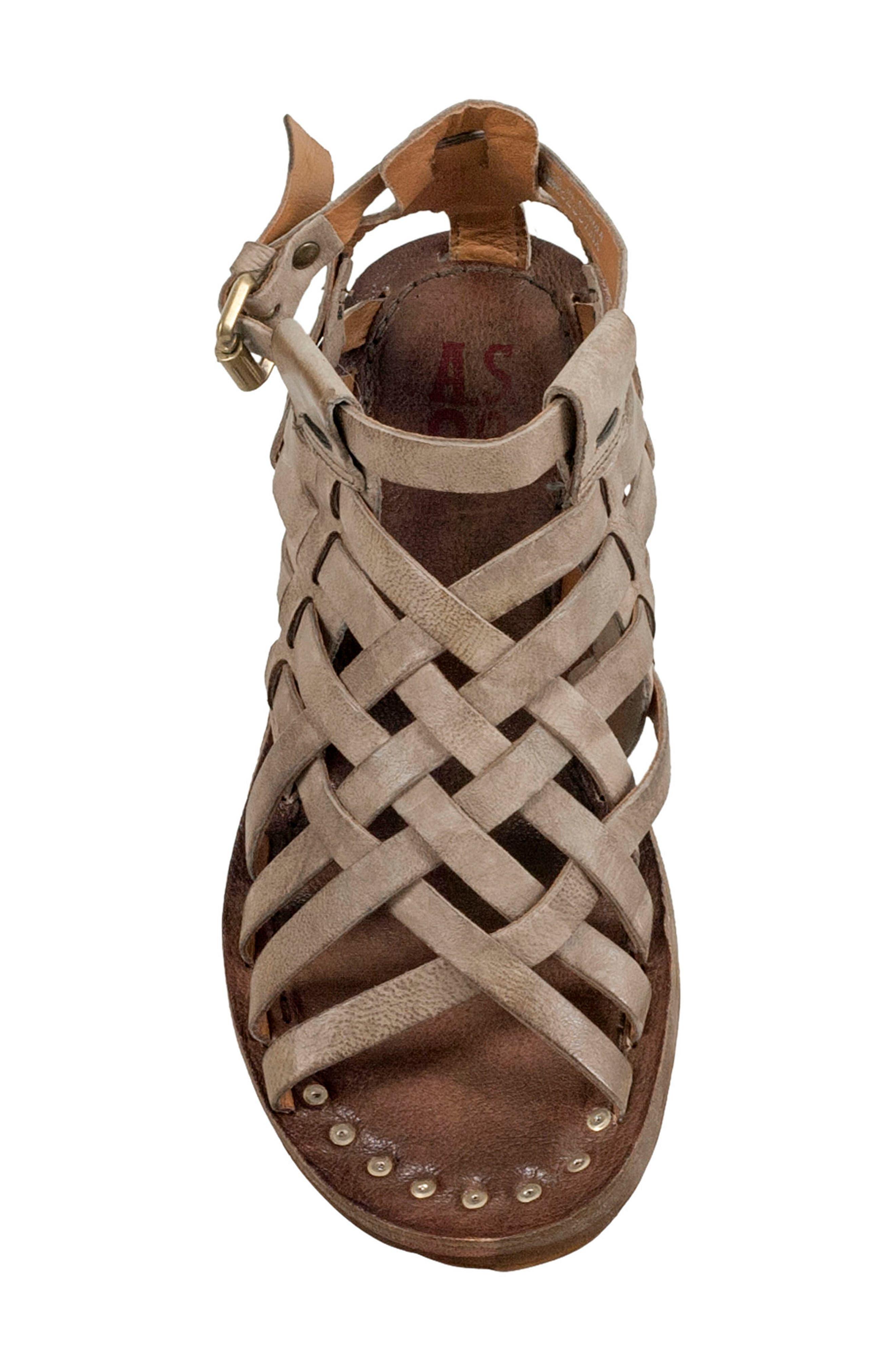 Ralston Gladiator Sandal,                             Alternate thumbnail 5, color,                             TAUPE