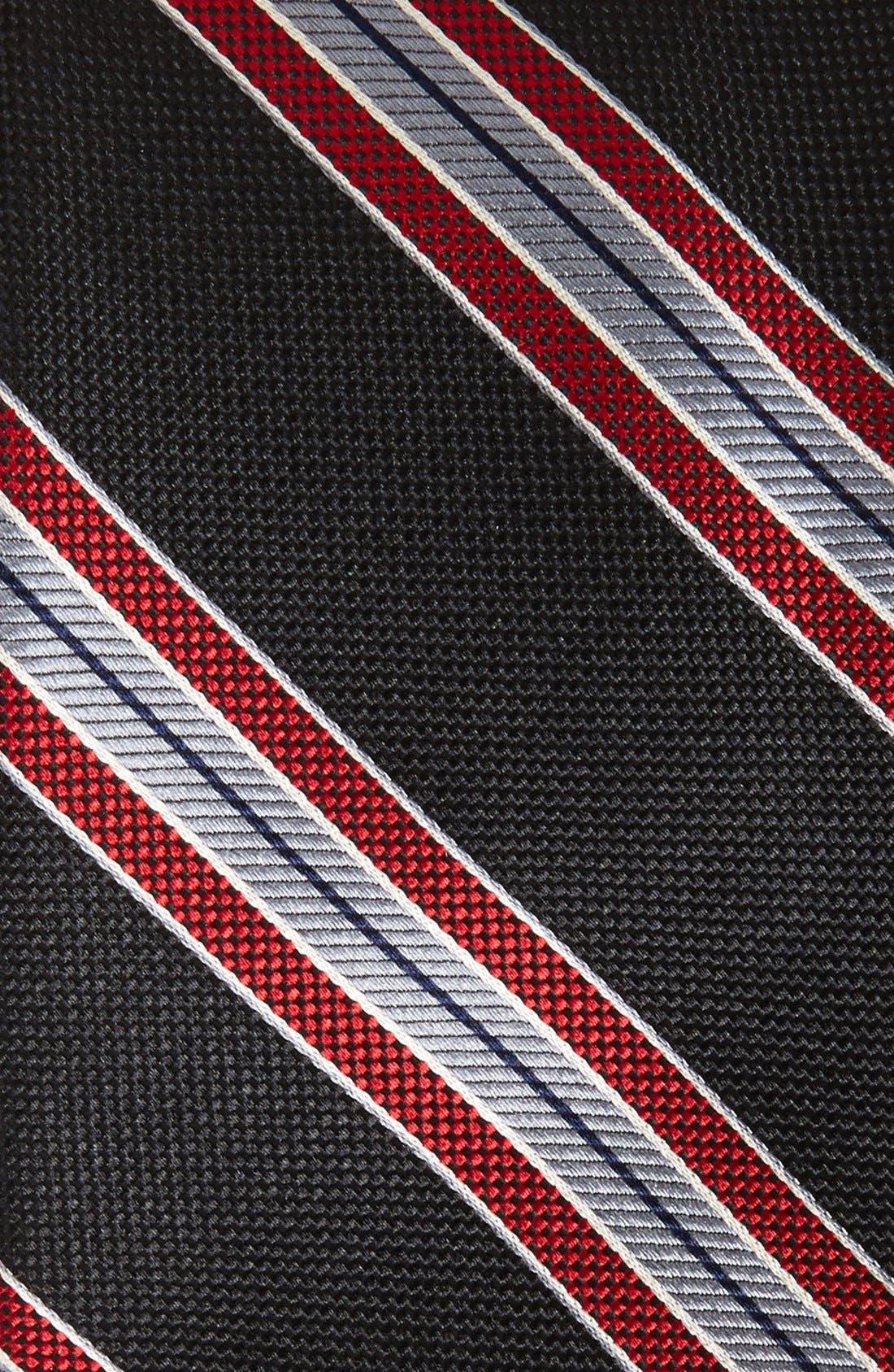 Men's Shop 'Downhill Skier' Stripe Silk Tie,                             Alternate thumbnail 2, color,                             001