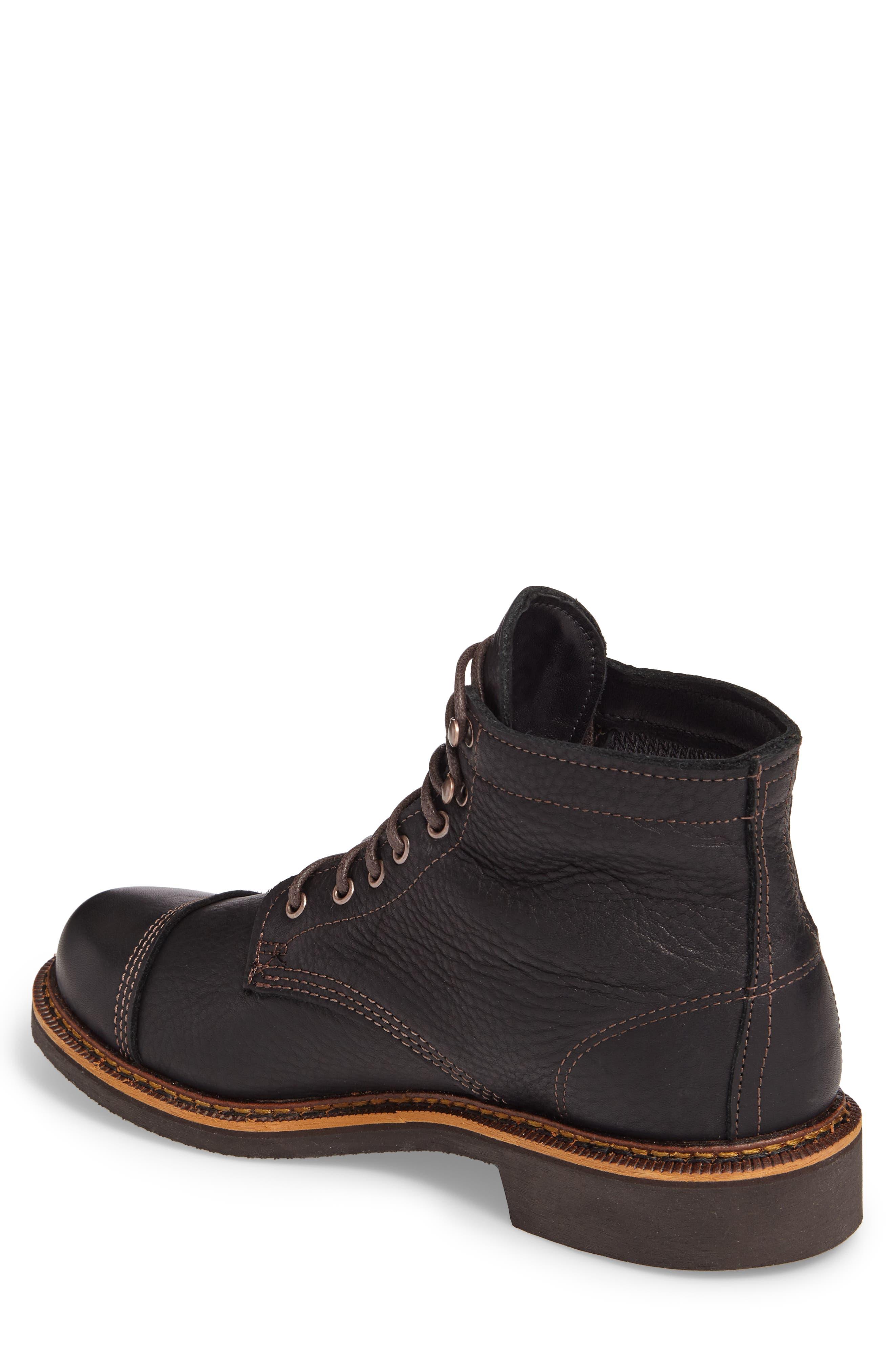 Jensen Cap Toe Boot,                             Alternate thumbnail 2, color,                             BLACK