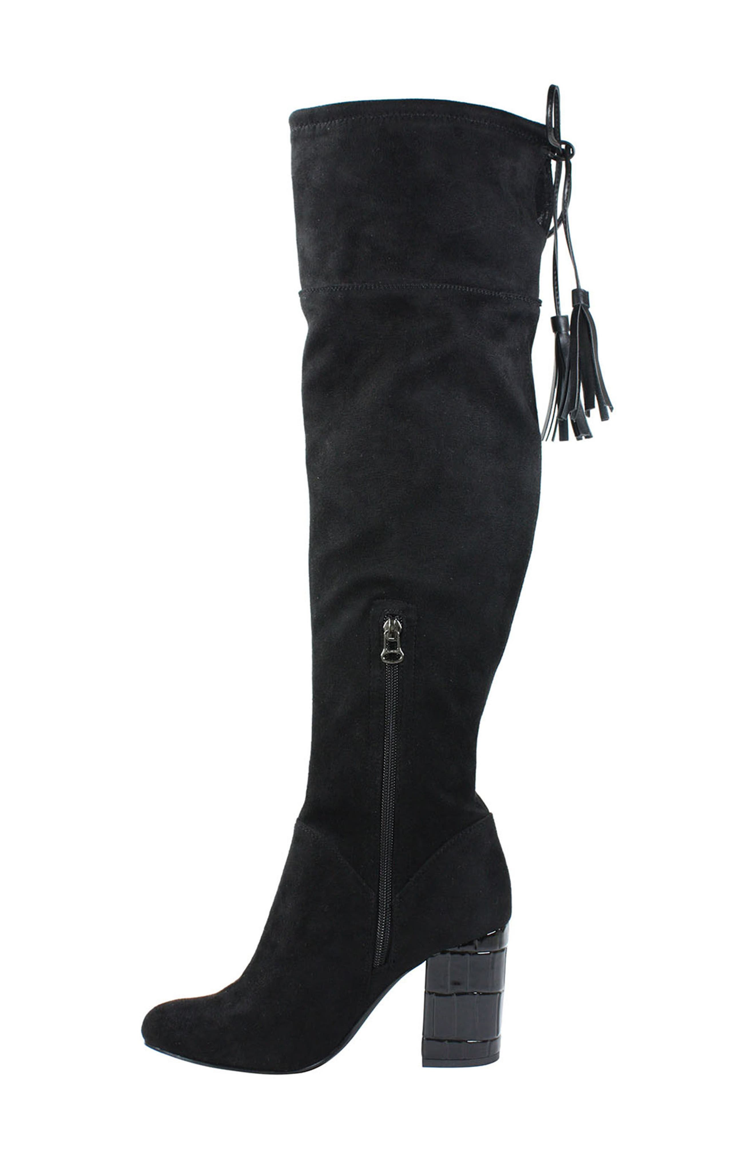 Calcari Over the Knee Boot,                             Alternate thumbnail 2, color,                             BLACK SUEDE