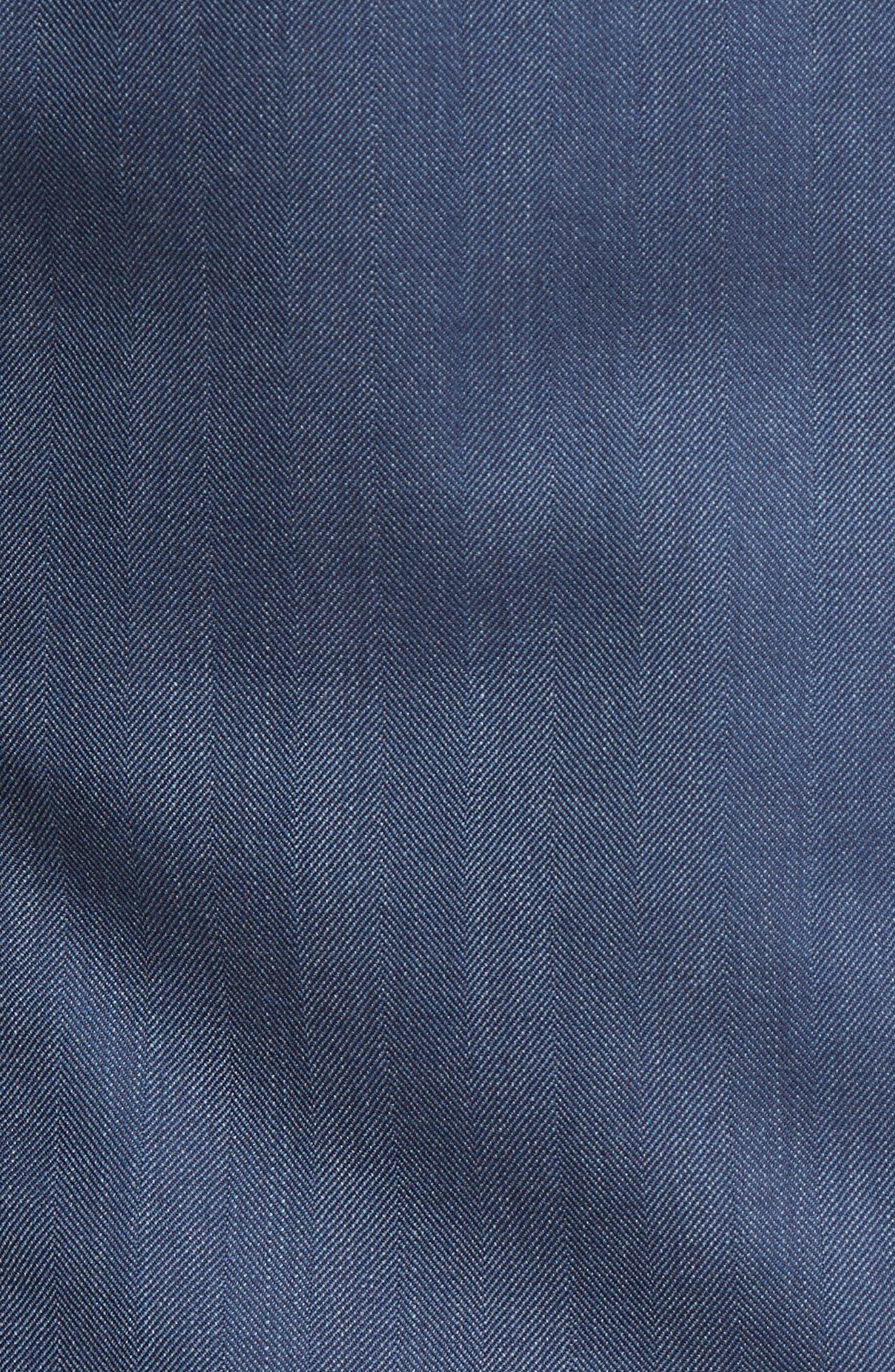 Classic Fit Herringbone Wool Sport Coat,                             Alternate thumbnail 5, color,                             422