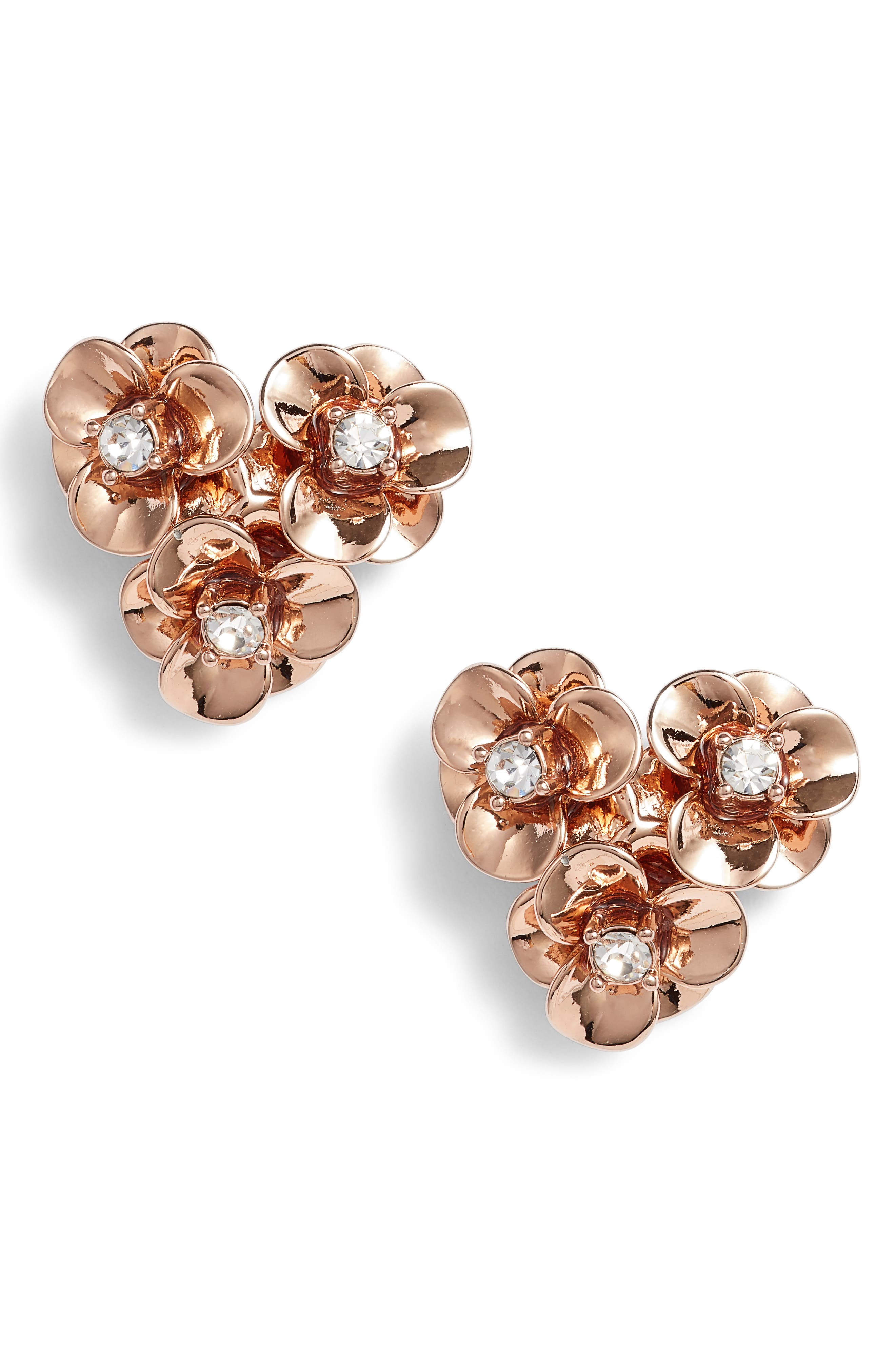 shine on flower cluster stud earrings,                             Main thumbnail 3, color,