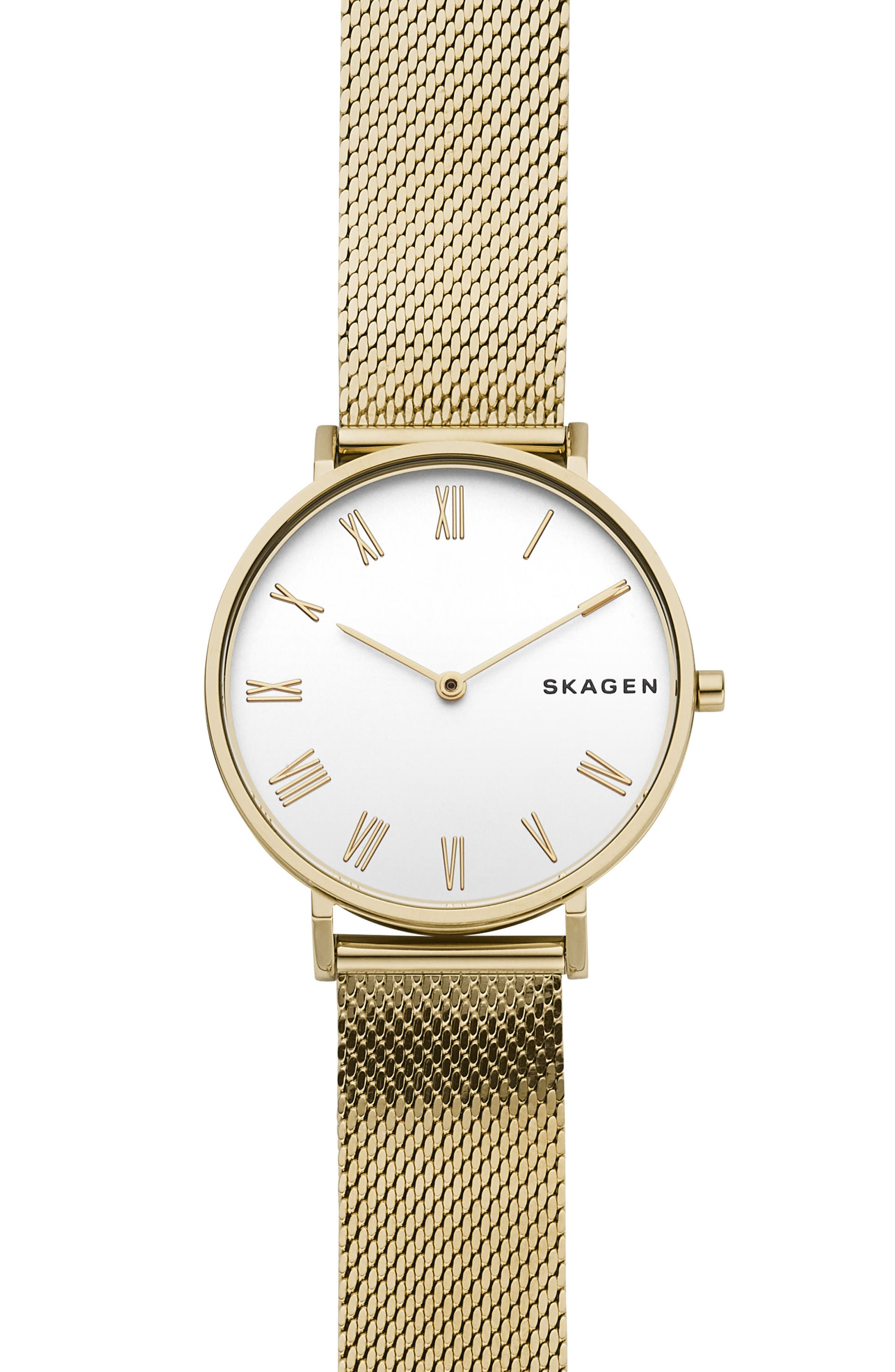 Hald Bracelet Watch, 34mm,                             Main thumbnail 1, color,                             GOLD/ SILVER/ GOLD