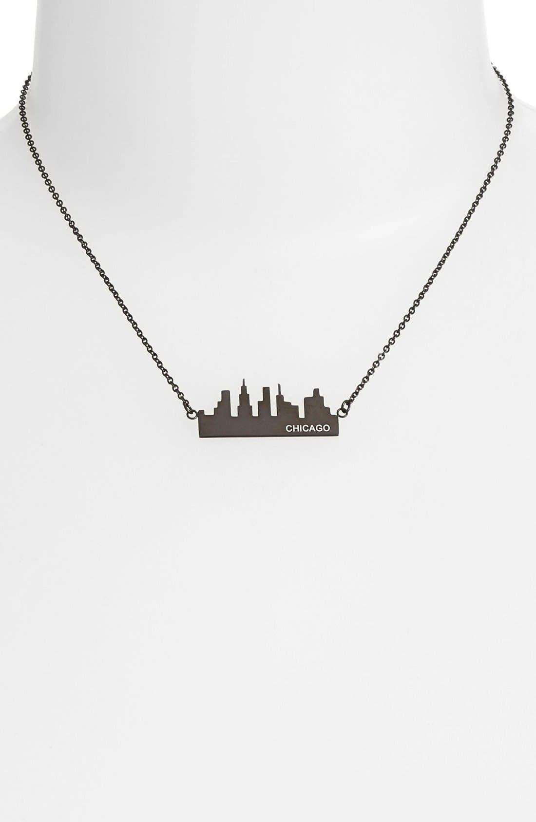 'Chicago' Pendant Necklace,                             Alternate thumbnail 2, color,                             001