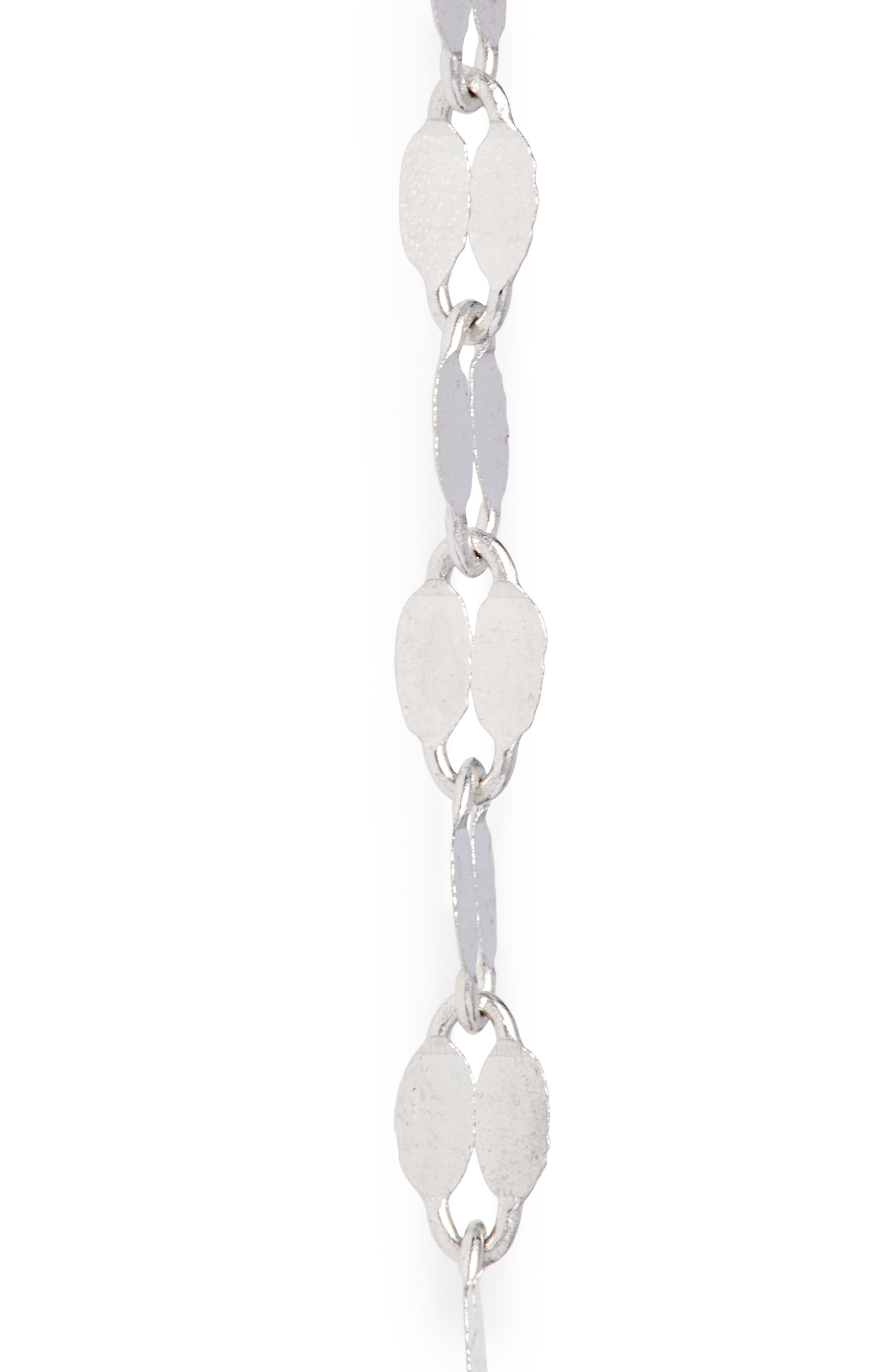 'Blake' Lariat Necklace,                             Alternate thumbnail 4, color,                             WHITE GOLD