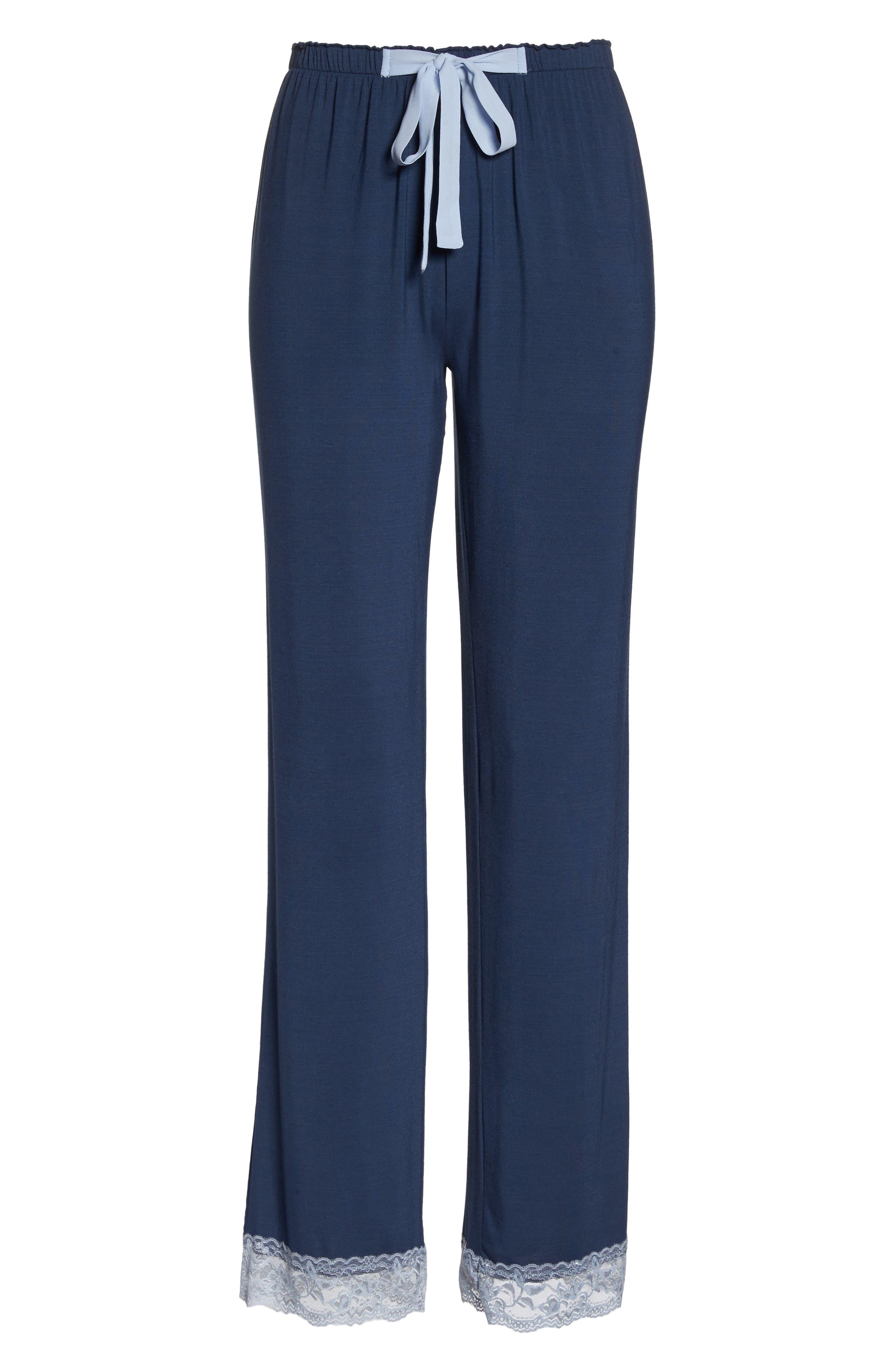 Snuggle Lounge Pants,                             Alternate thumbnail 6, color,                             STEEL BLUE
