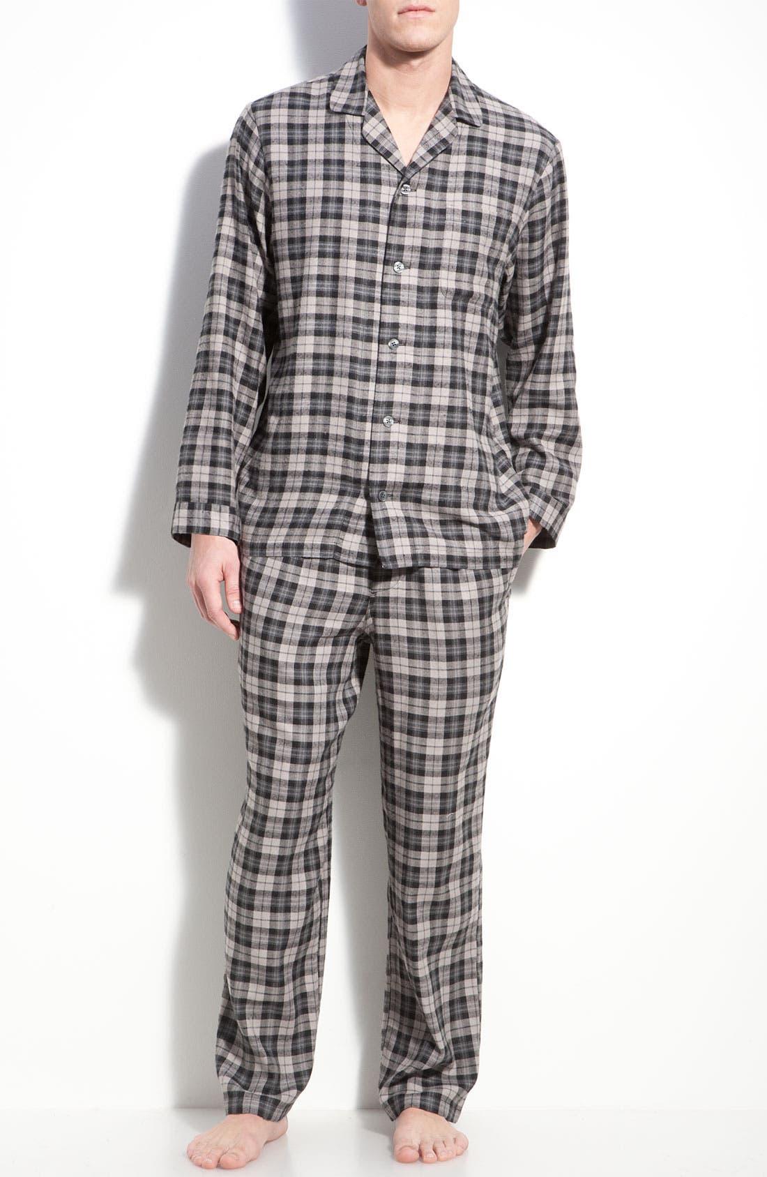 '824' Flannel Pajama Set,                             Main thumbnail 12, color,