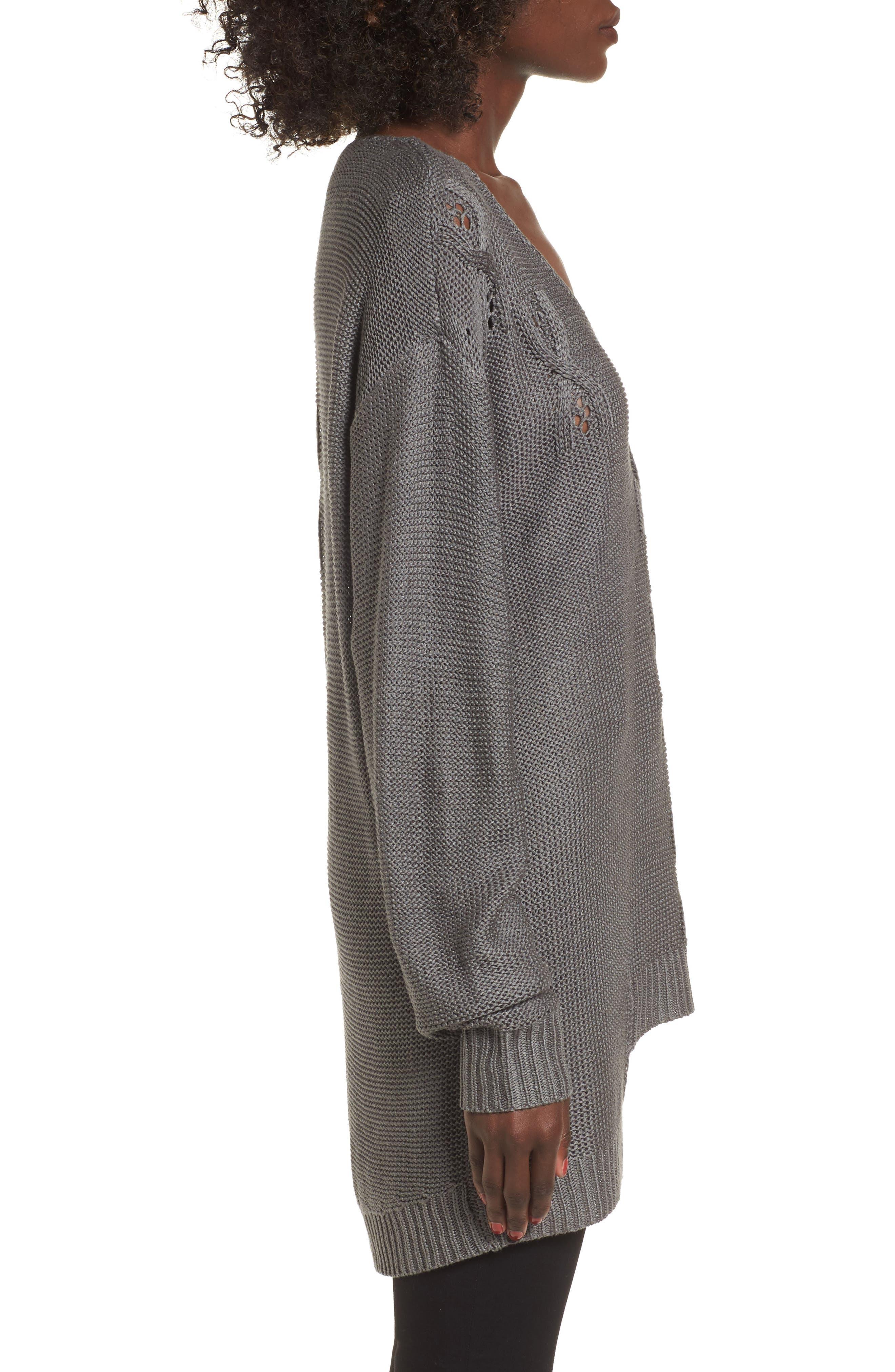 Patti Longline Sweater,                             Alternate thumbnail 3, color,                             021