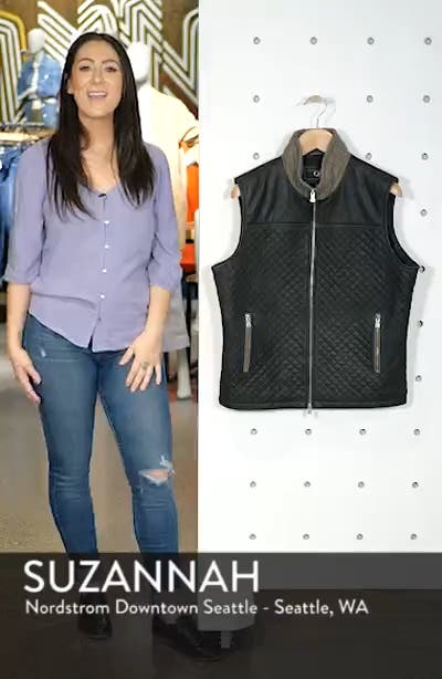 Quilted Leather & Wool Vest, sales video thumbnail