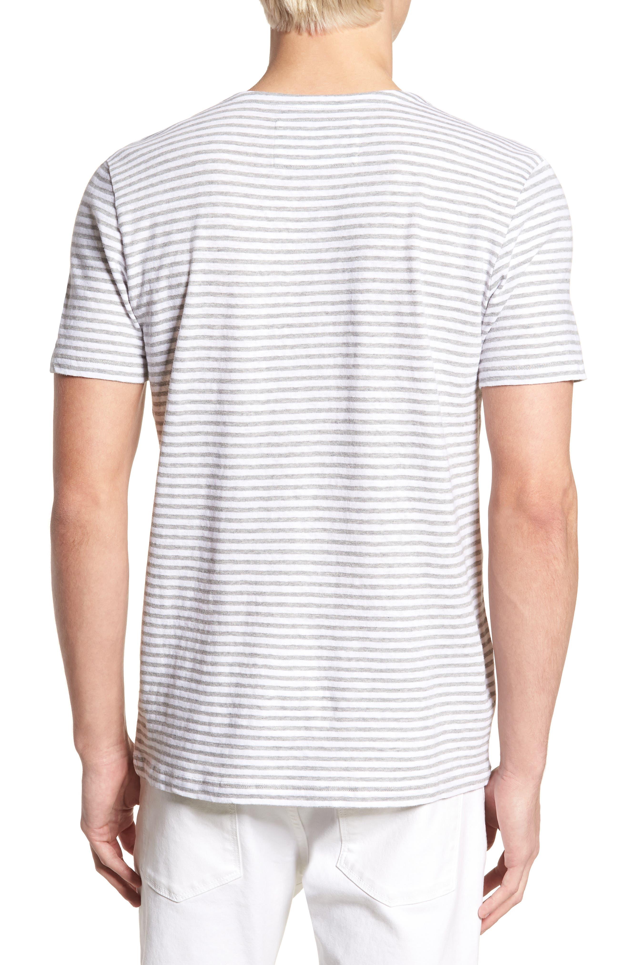 & Bros. Stripe Crewneck T-Shirt,                             Alternate thumbnail 2, color,                             WHITE STRIPE