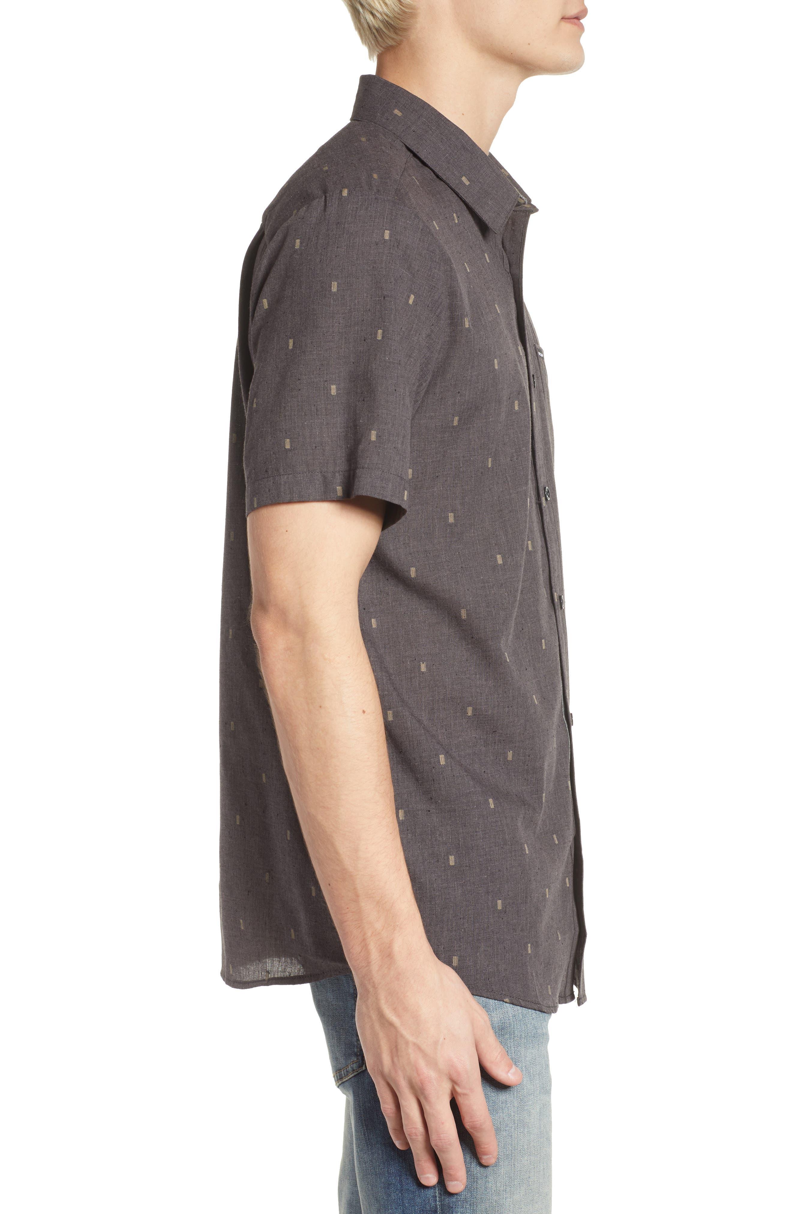 Gladstone Short Sleeve Shirt,                             Alternate thumbnail 3, color,                             001