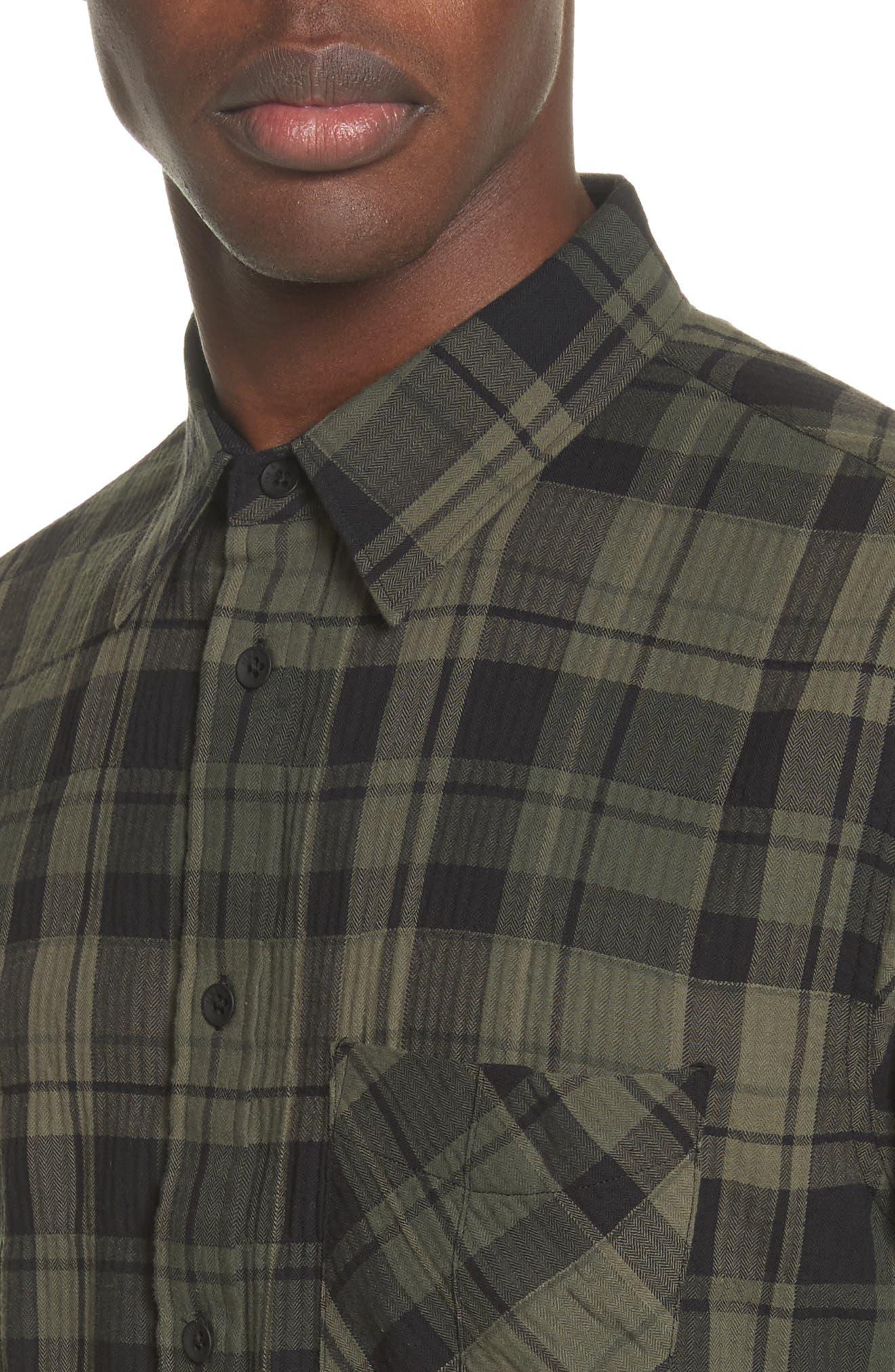 Fit 3 Base Plaid Flannel Shirt,                             Alternate thumbnail 5, color,