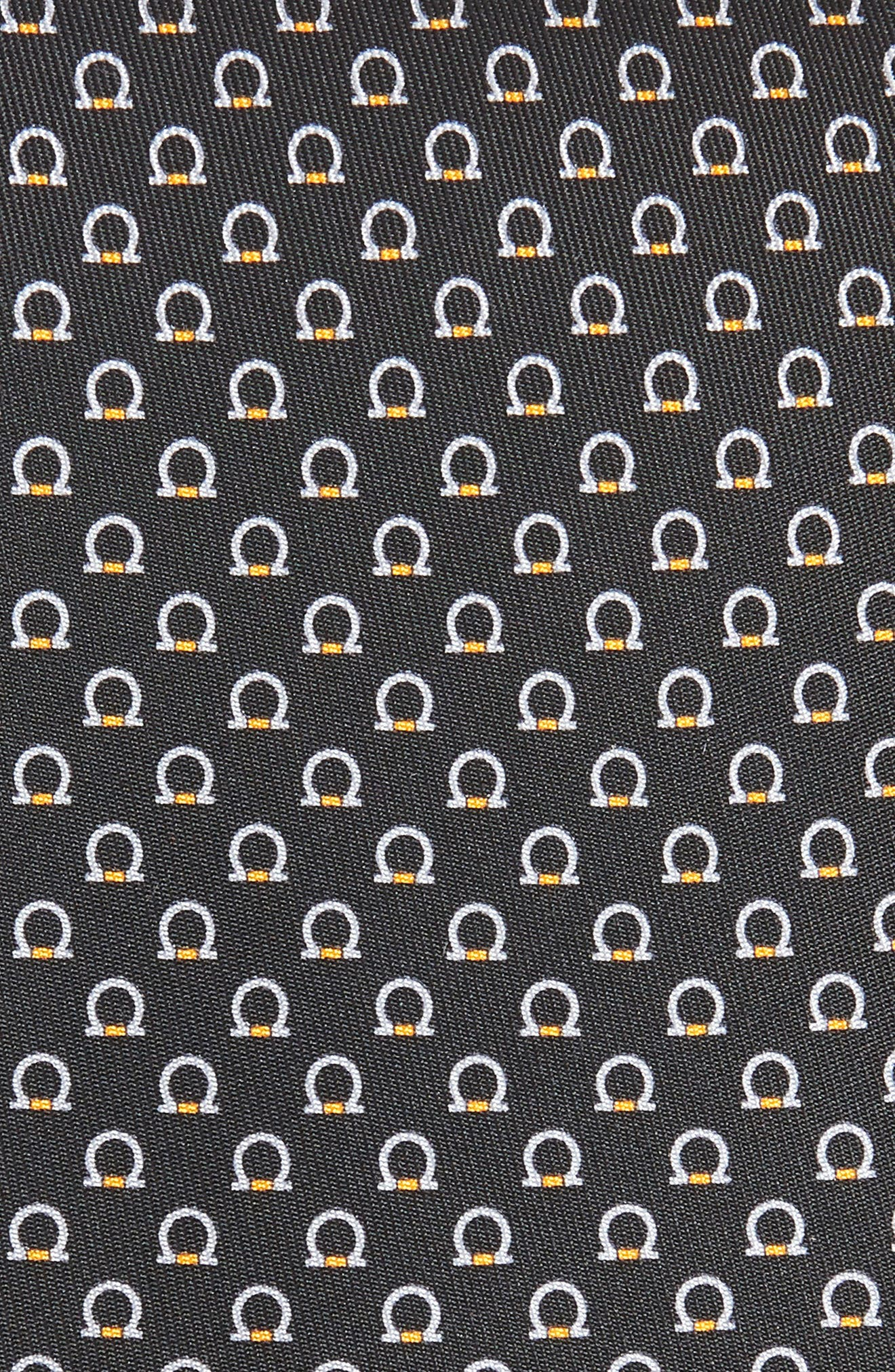 Feudo Print Silk Tie,                             Alternate thumbnail 2, color,                             BLACK