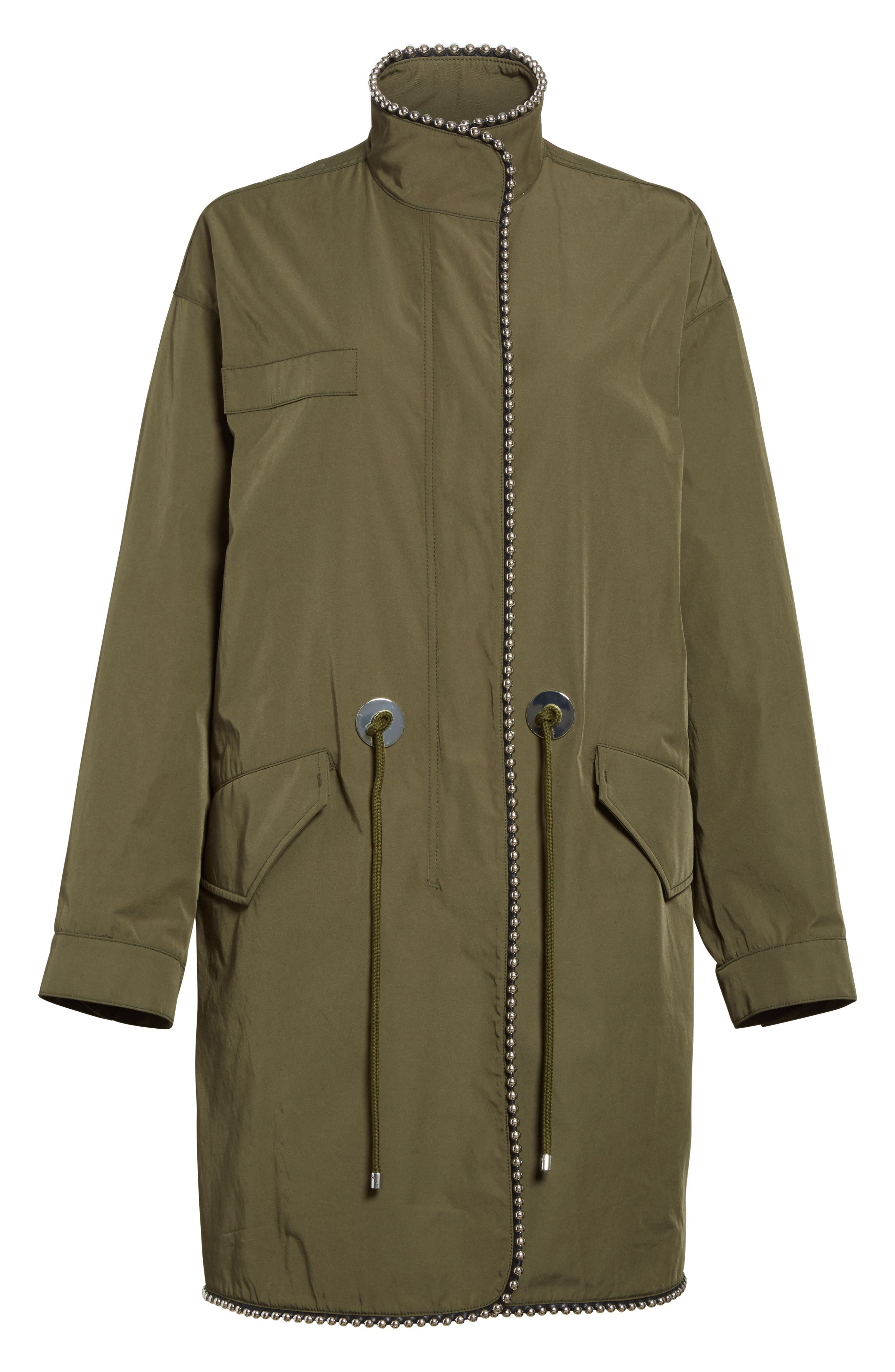 Chain Trim Twill Parka,                             Alternate thumbnail 5, color,                             300