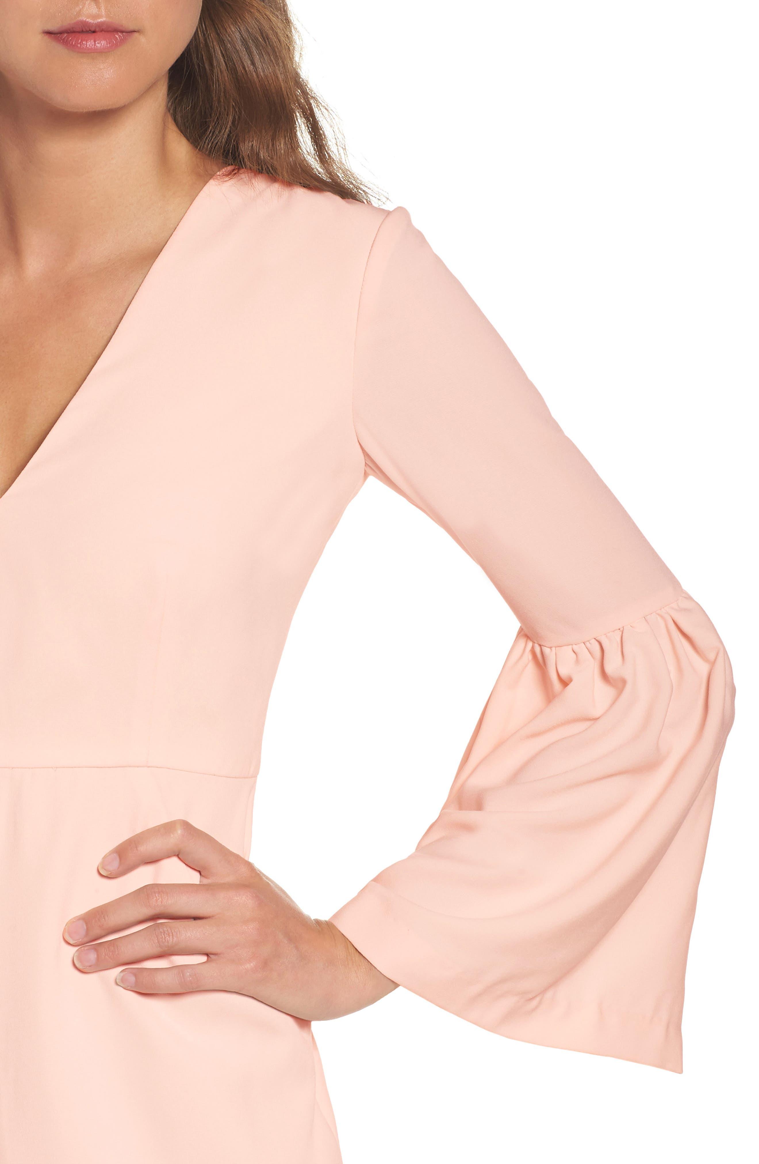 Bell Sleeve Dress,                             Alternate thumbnail 4, color,                             400