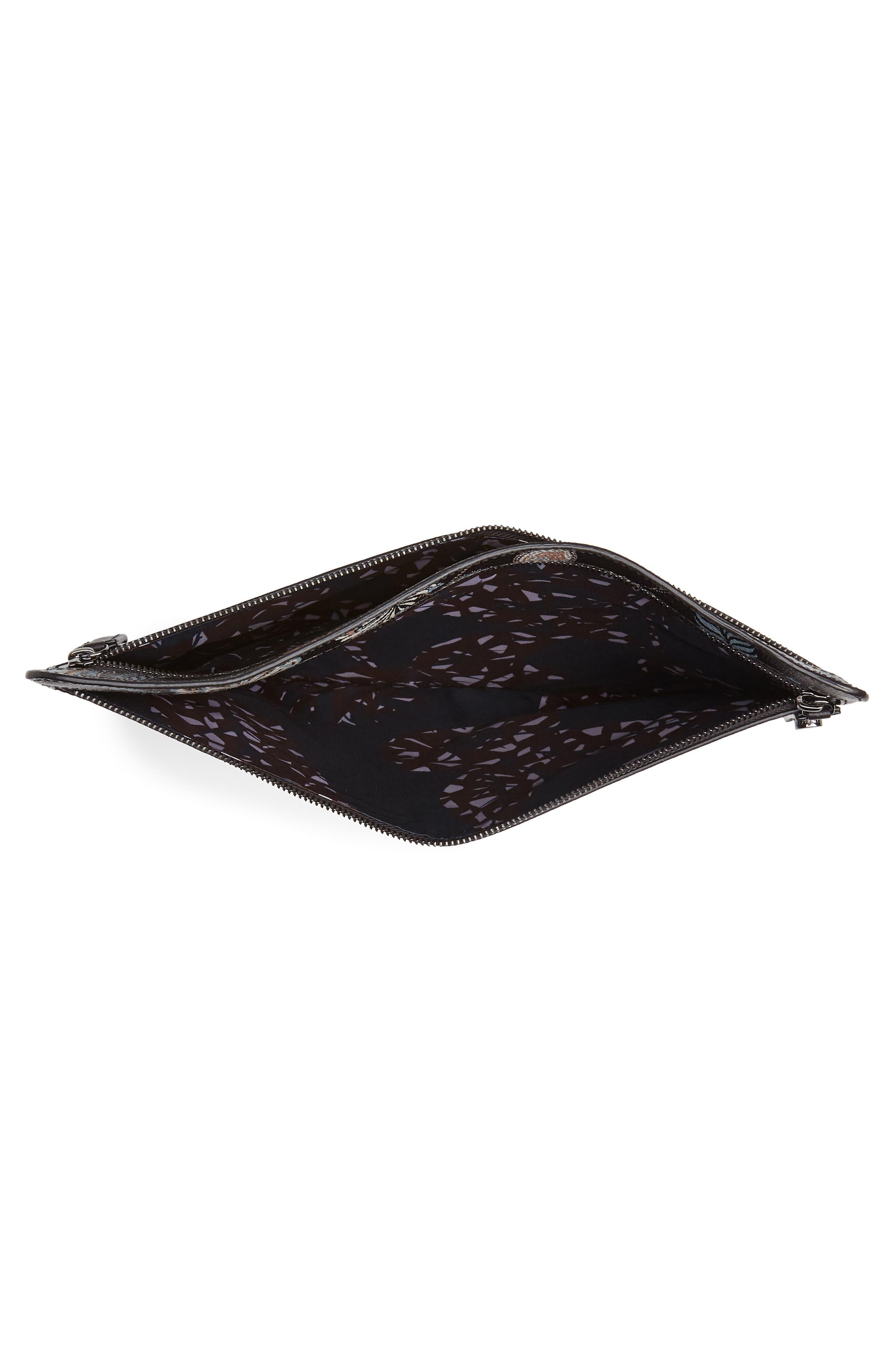 Tiggs Leather Portfolio,                             Alternate thumbnail 4, color,                             BLACK