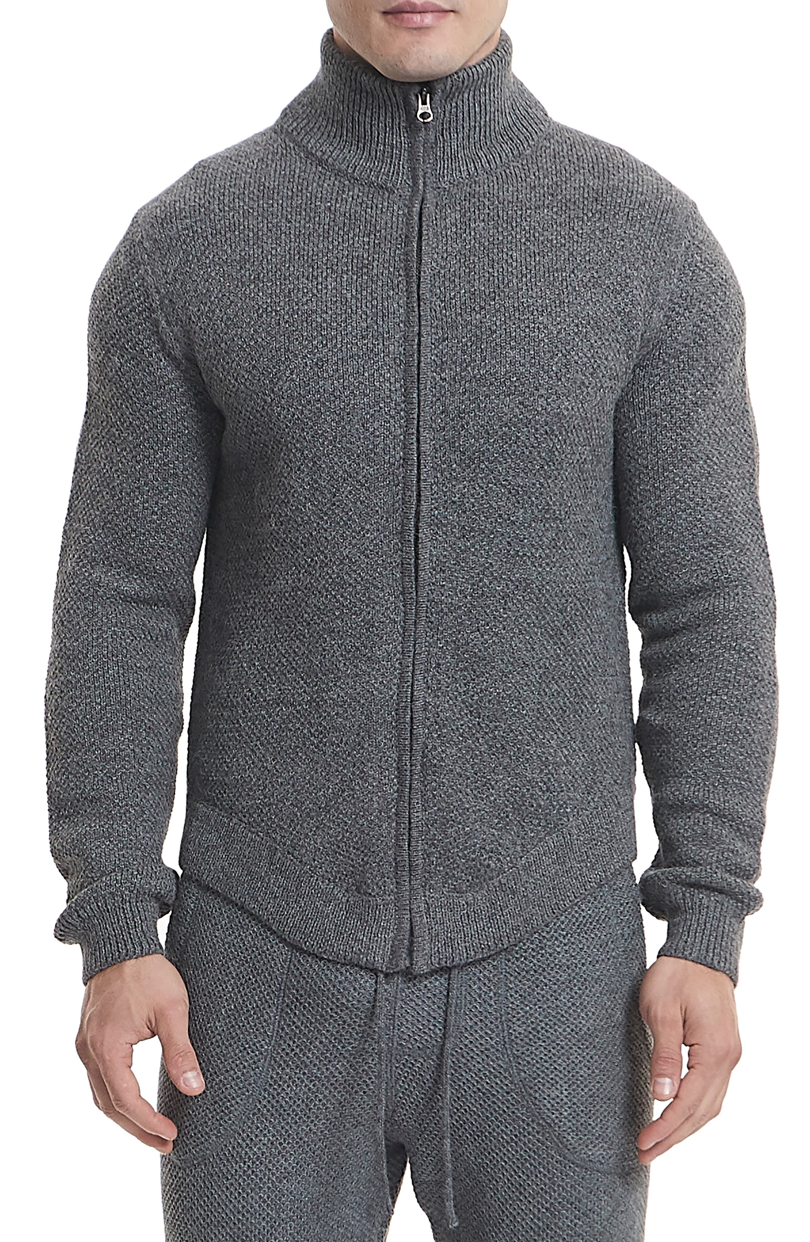 Goodlife Slim Fit Zip Cardigan, Grey