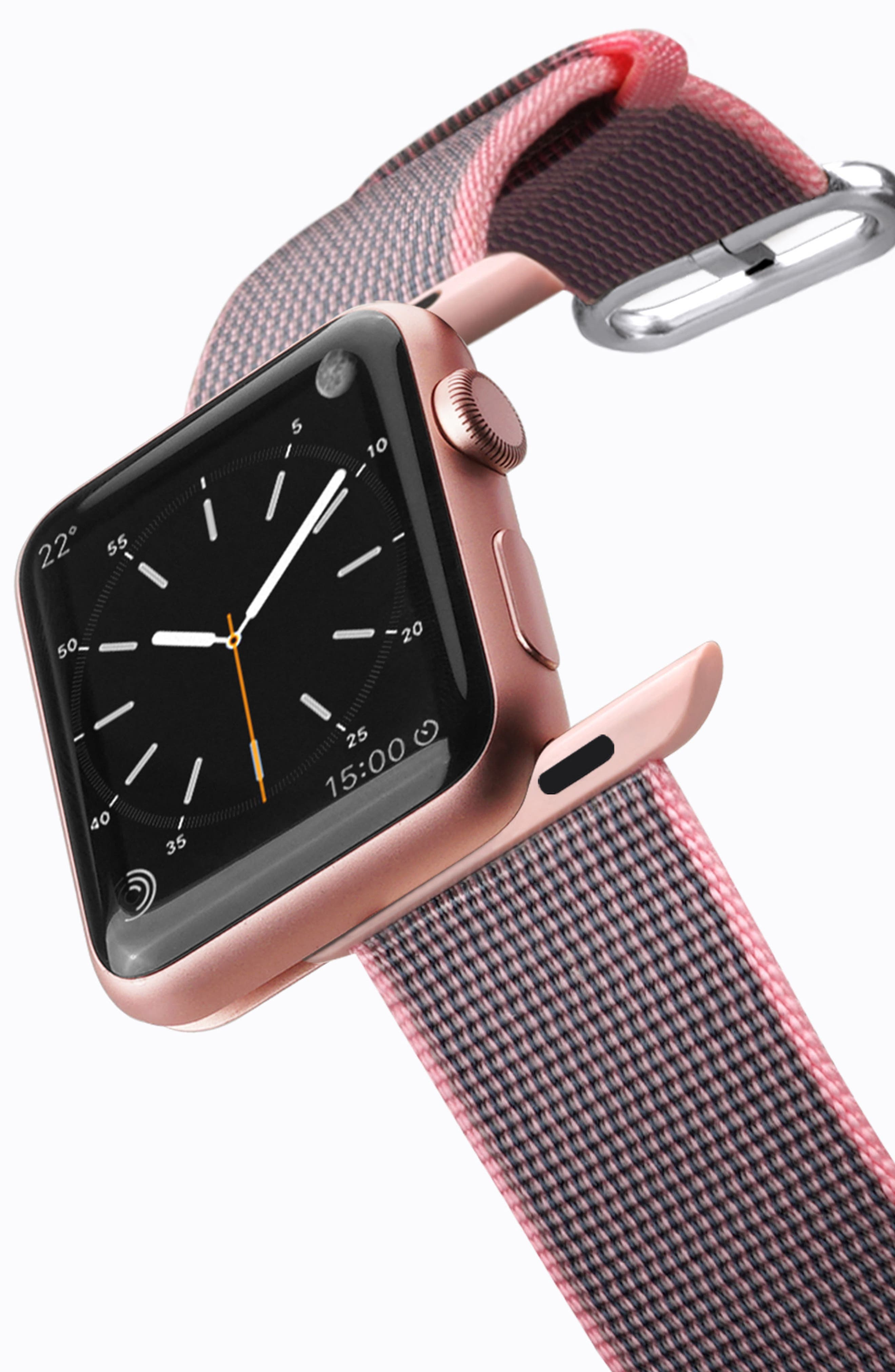 Nylon Apple Watch Strap, 38mm,                             Alternate thumbnail 12, color,