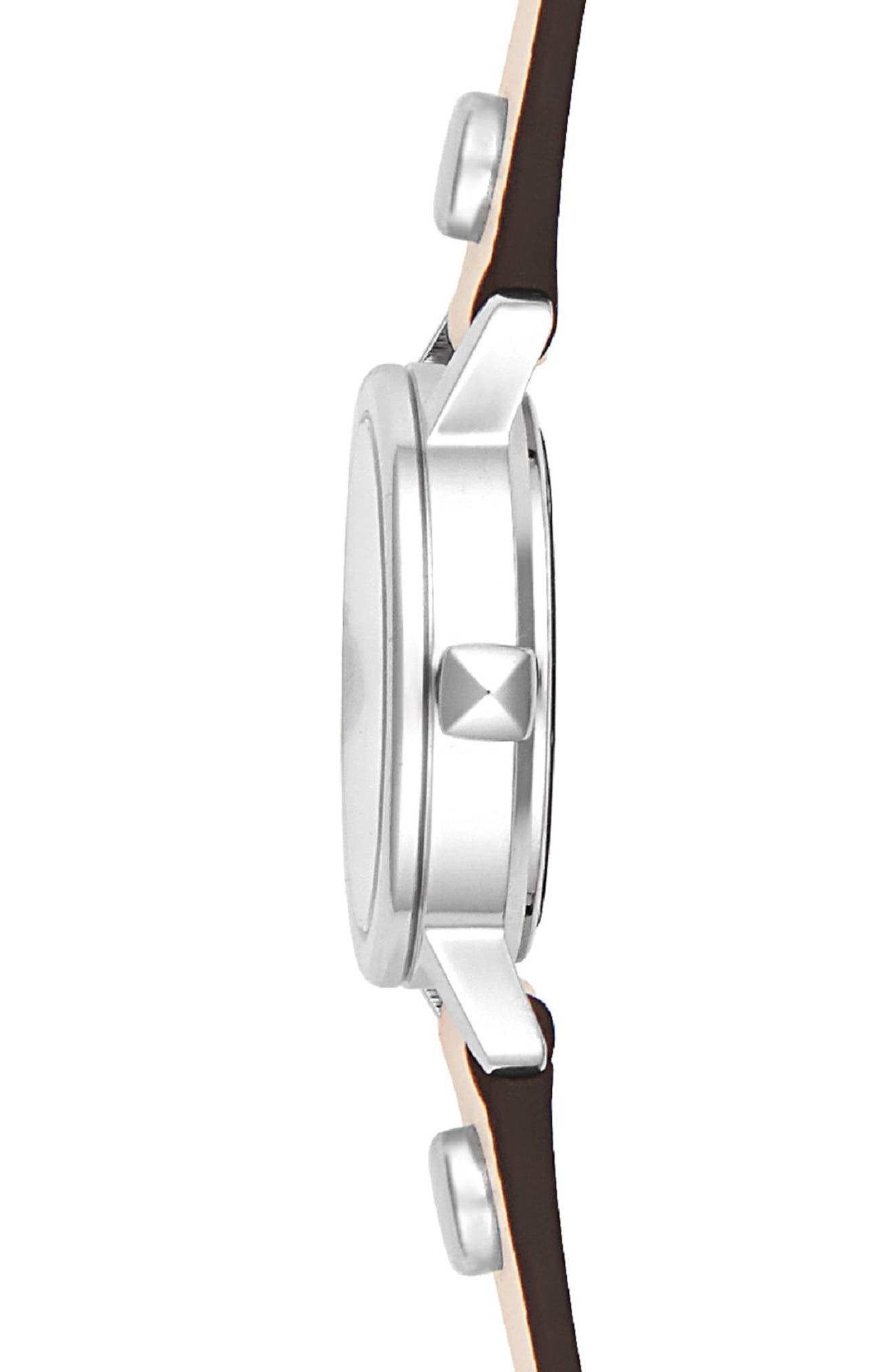 BFFLS Double Wrap Leather Strap Watch, 25mm,                             Alternate thumbnail 3, color,                             BLUSH/ SILVER