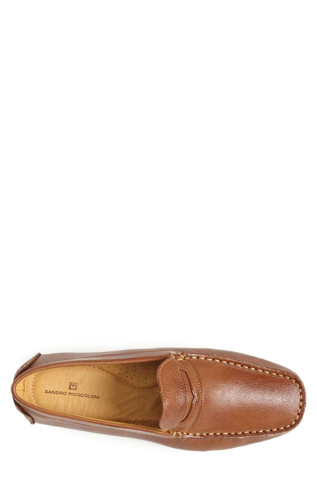 'Santee' Driving Shoe,                             Alternate thumbnail 4, color,                             COGNAC