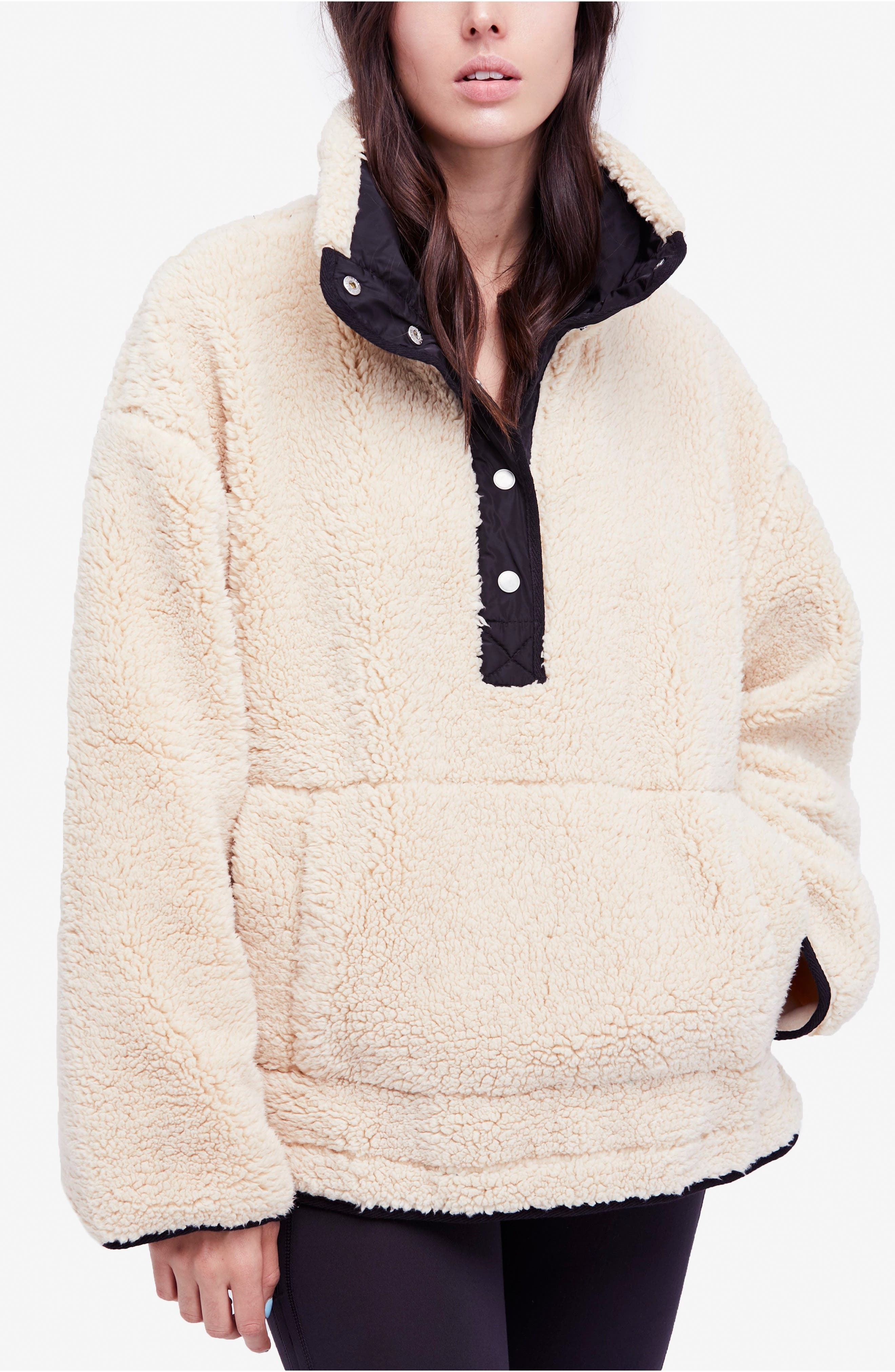 Free People Oh So Cozy Fleece Pullover,                             Alternate thumbnail 15, color,