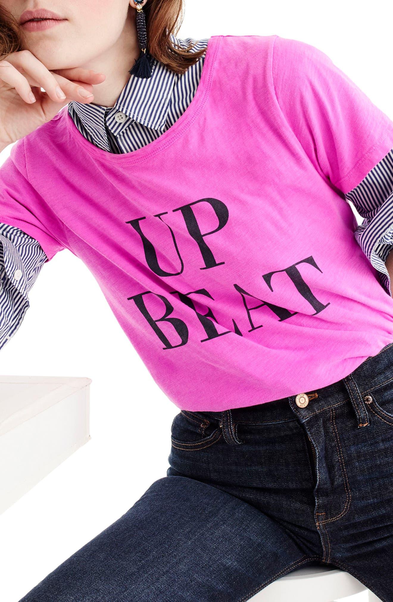 Up Beat Tee,                             Main thumbnail 1, color,                             650