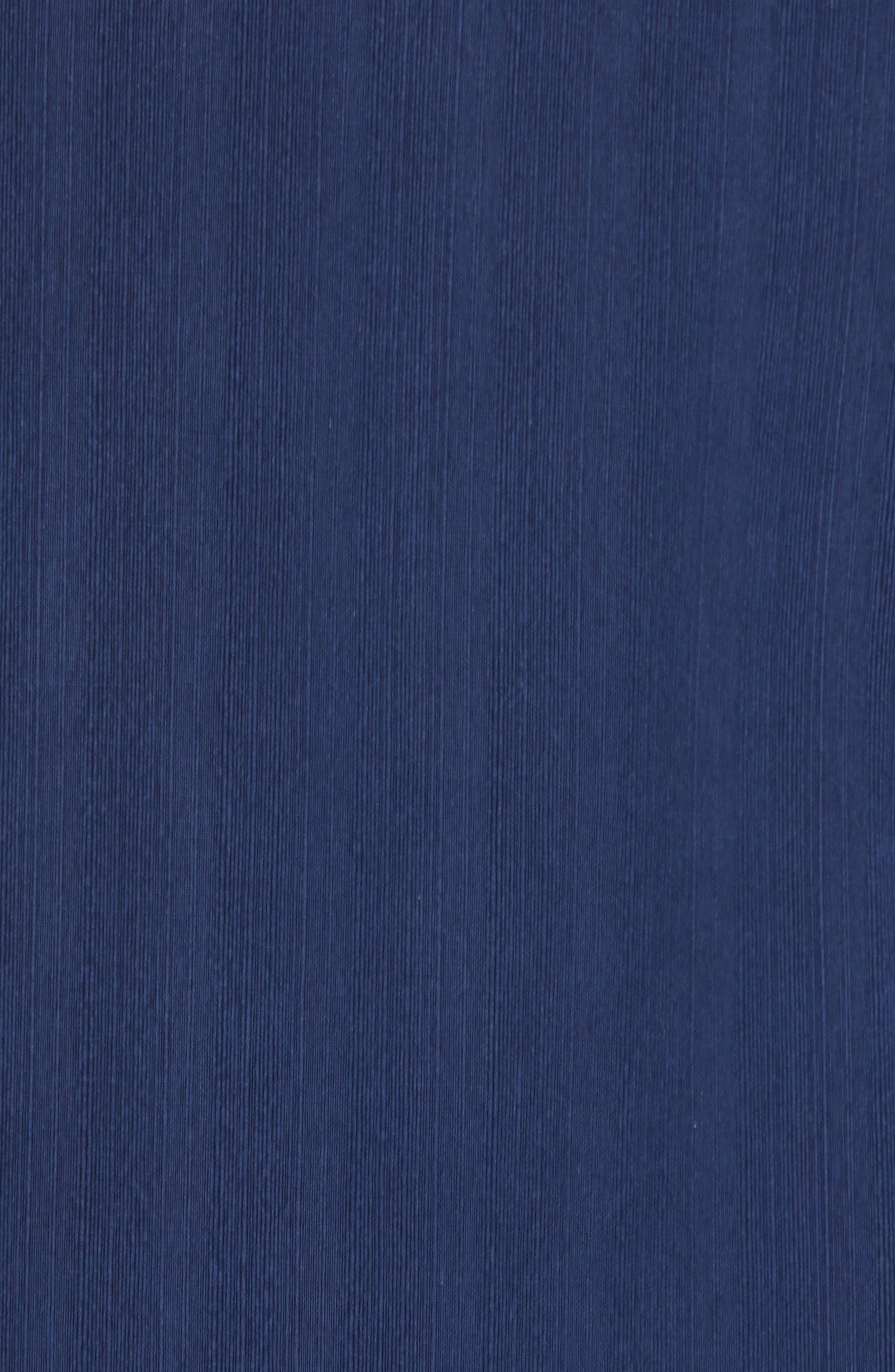 Playa Palmas Silk Camp Shirt,                             Alternate thumbnail 5, color,                             OCEAN DEEP