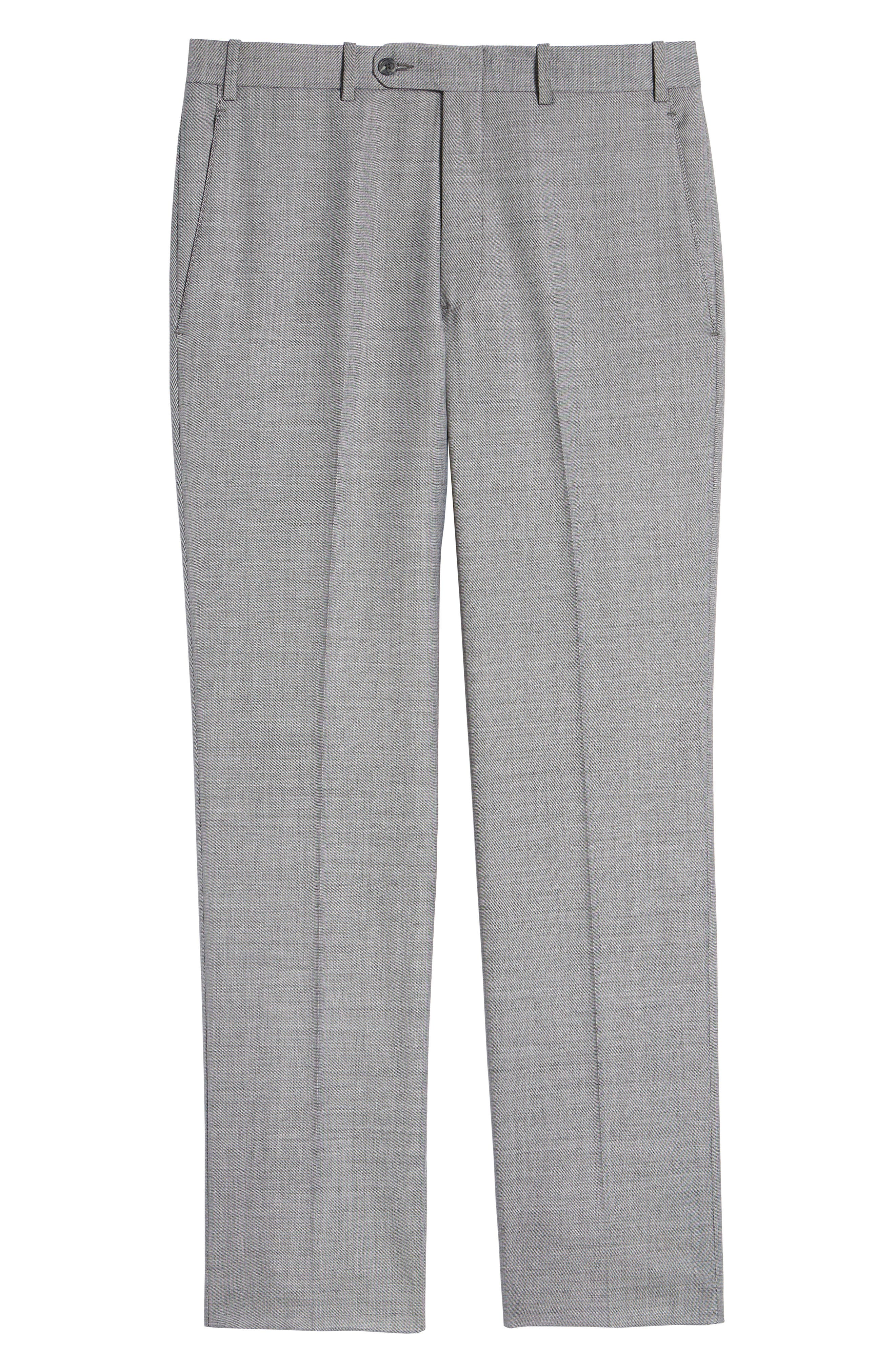 Torino Flat Front Solid Wool Trousers,                             Alternate thumbnail 17, color,
