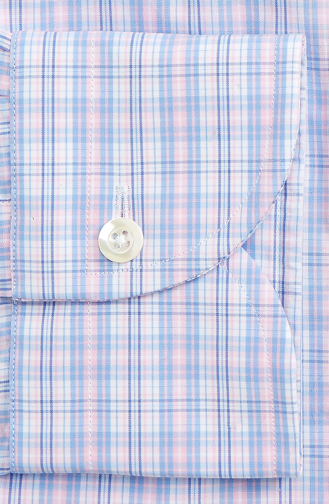 Slim Fit Plaid Dress Shirt,                             Alternate thumbnail 2, color,                             650