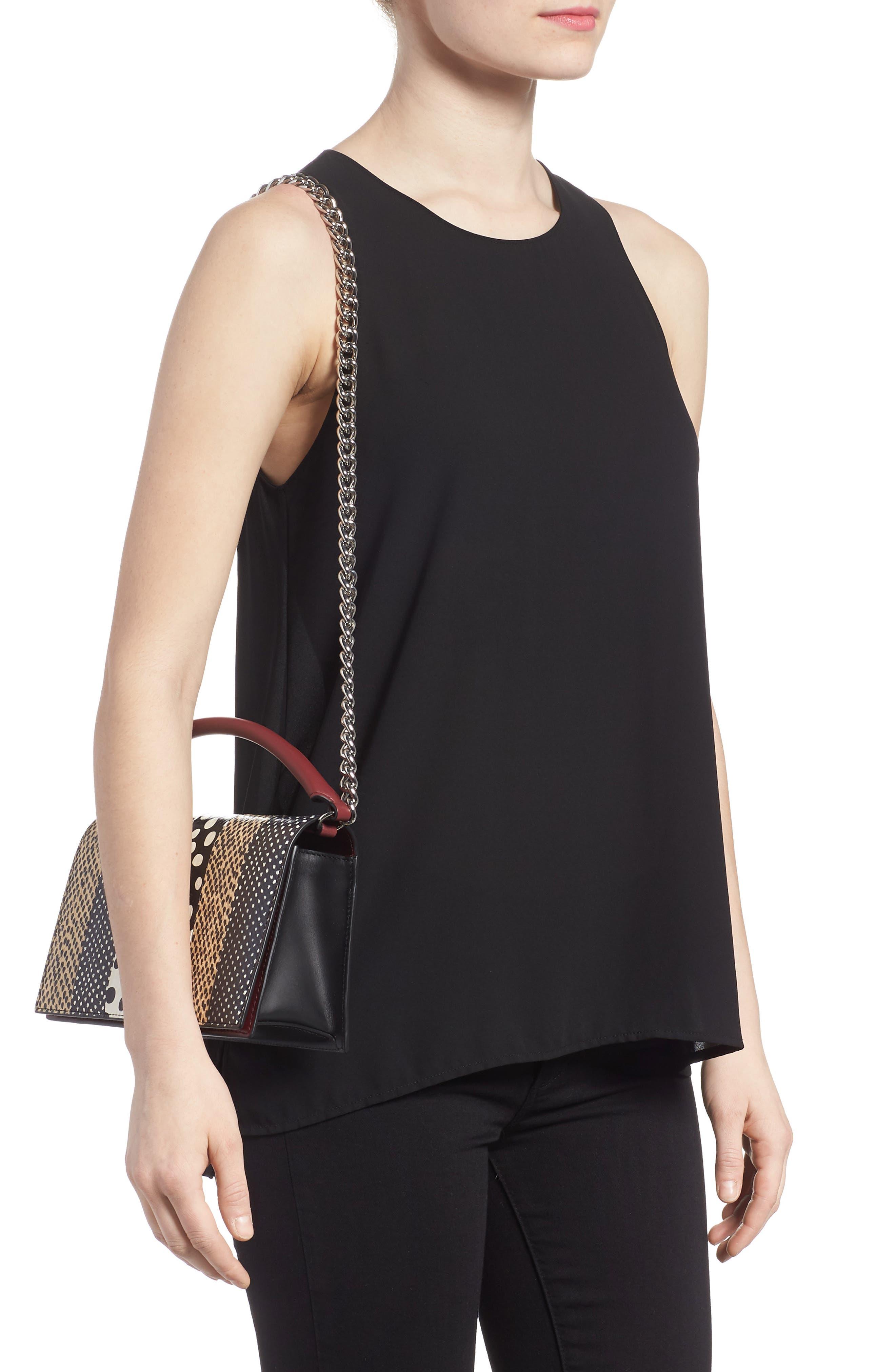 Bonne Soirée Leather & Genuine Snakeskin Top Handle Bag,                             Alternate thumbnail 2, color,