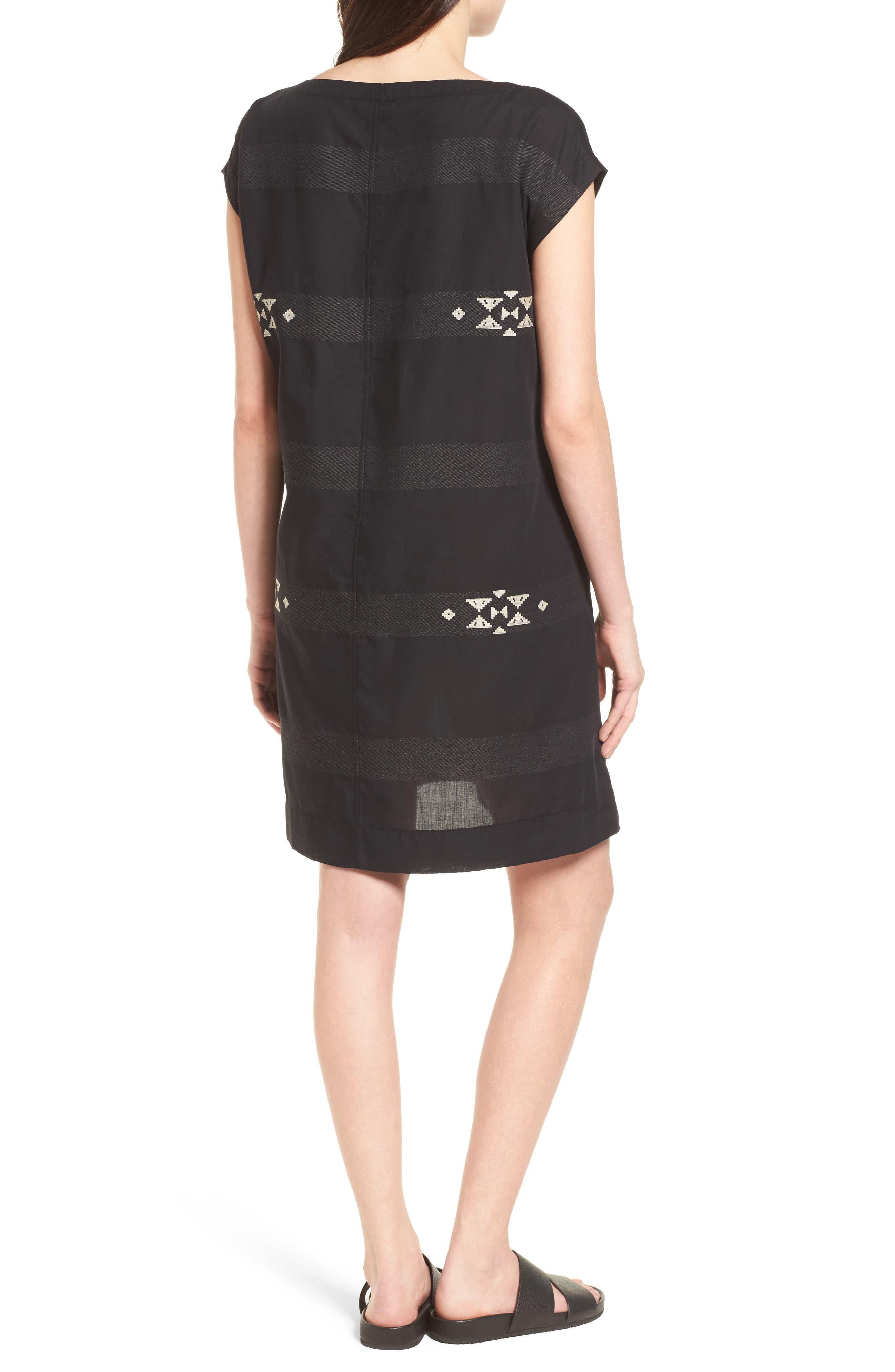 Cotton Jacquard Shirt Dress,                             Alternate thumbnail 2, color,