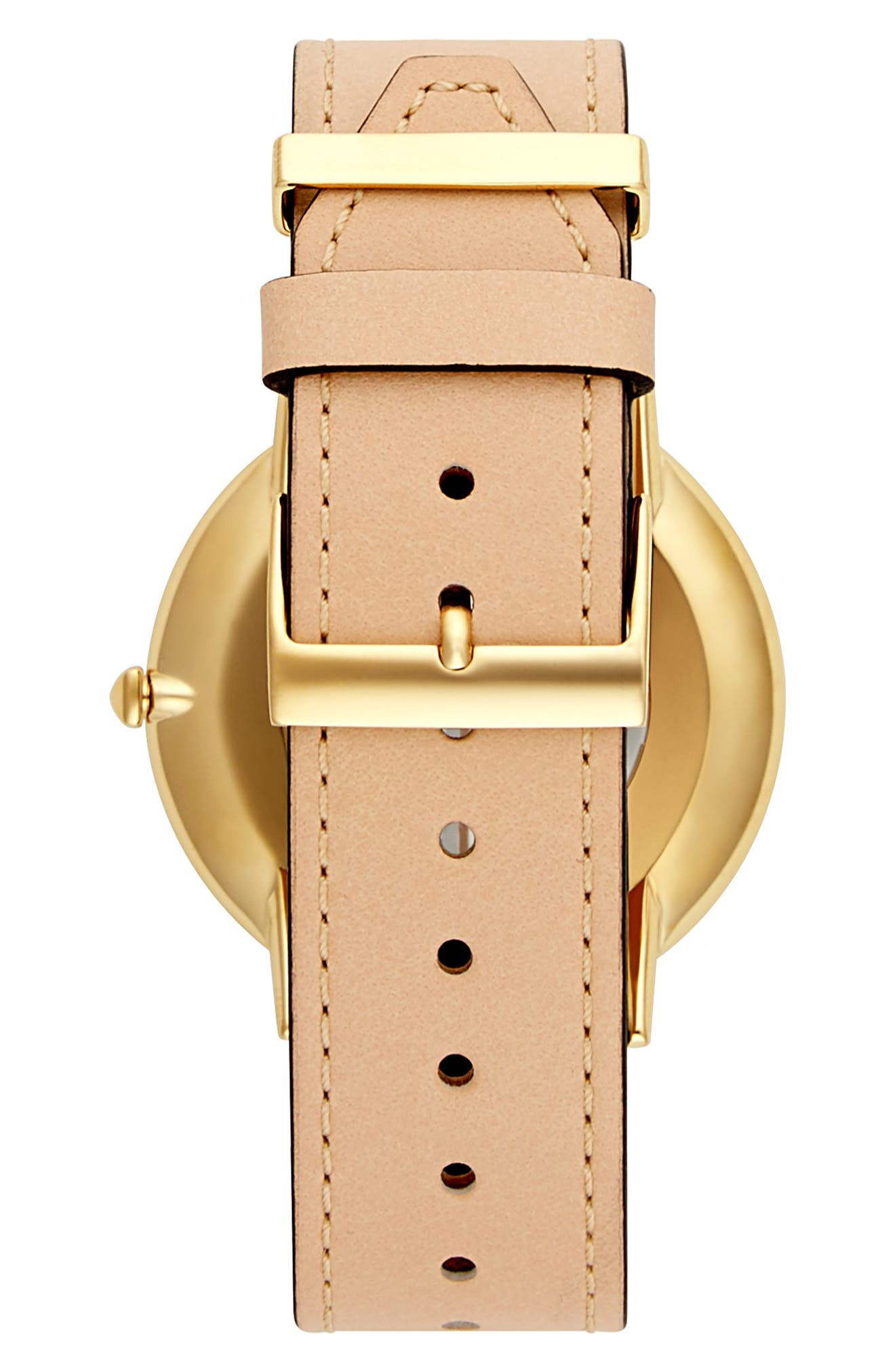 Major Leather Strap Watch, 40mm,                             Alternate thumbnail 2, color,                             VACHETTA/ SILVER/ GOLD