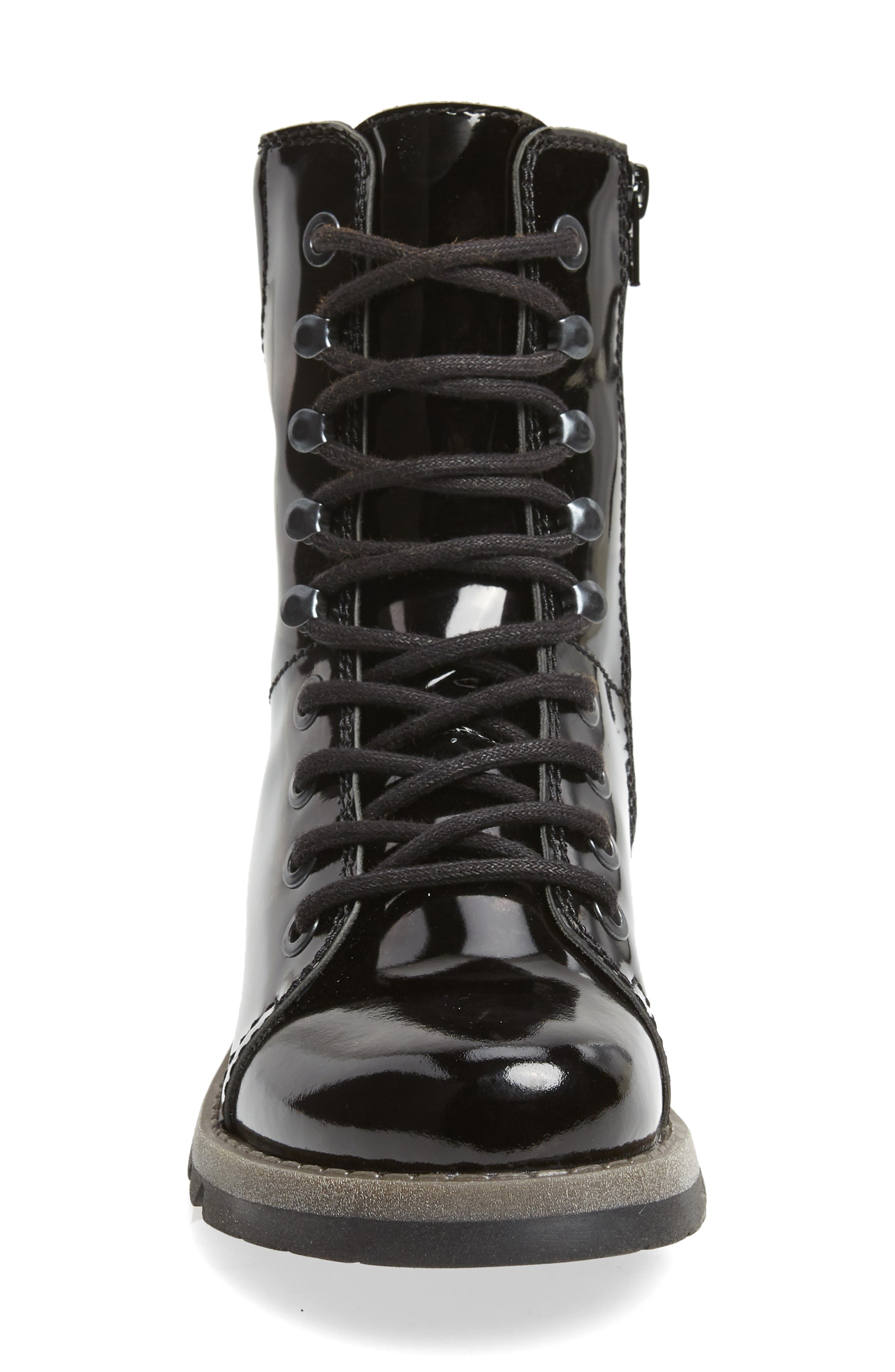 Same Lace-Up Boot,                             Alternate thumbnail 4, color,                             BLACK