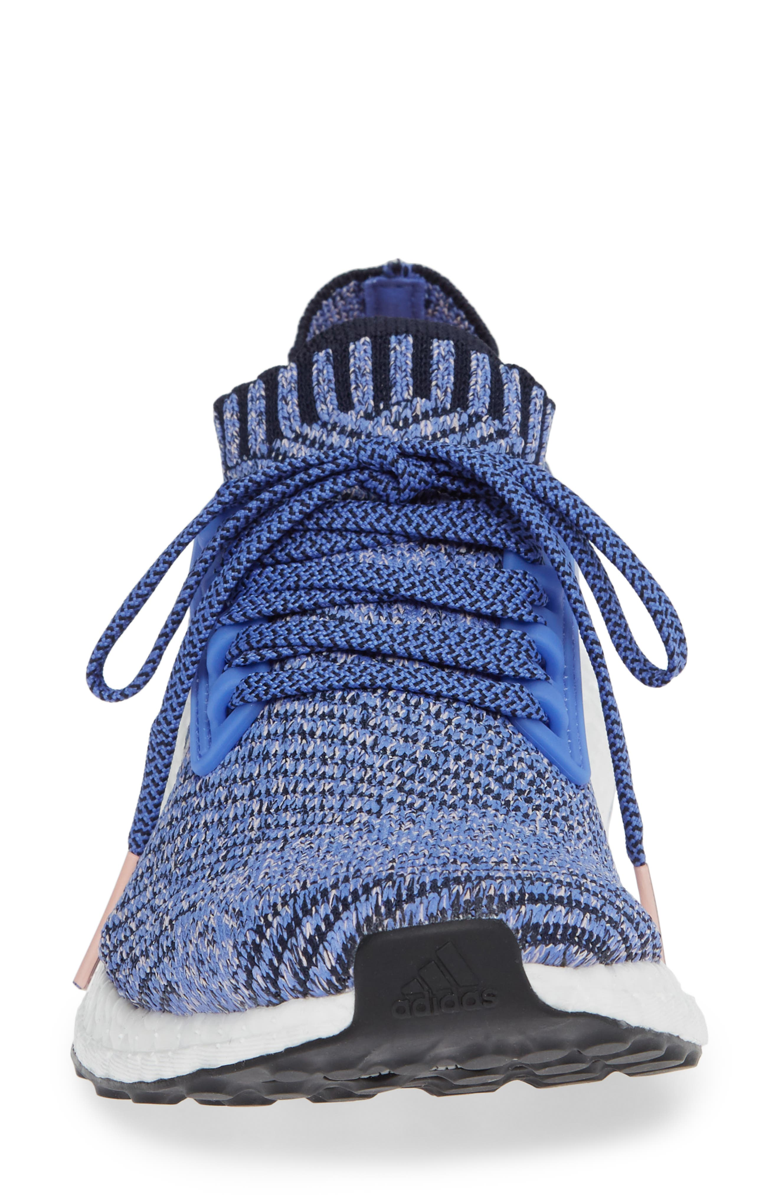 UltraBoost X Running Shoe,                             Alternate thumbnail 4, color,                             REAL LILAC/ LEGEND INK/ BLACK