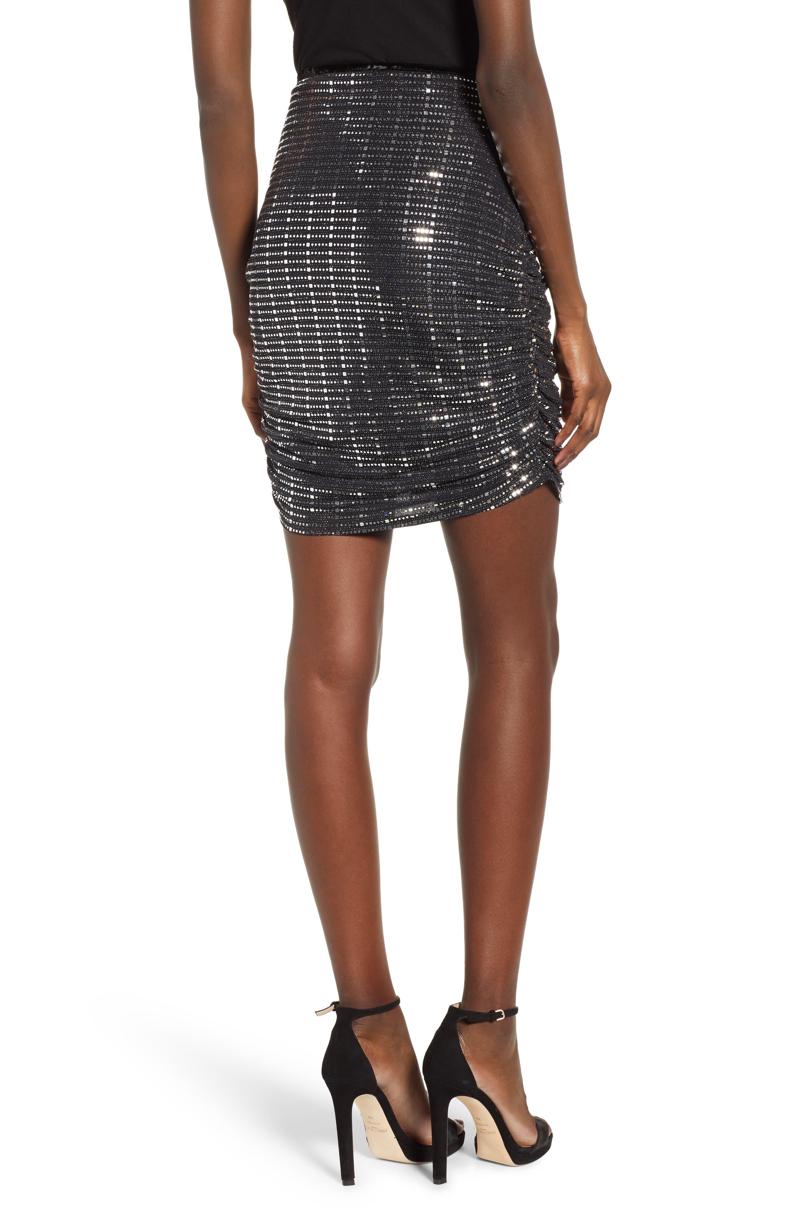 Sequin Pencil Skirt,                             Alternate thumbnail 2, color,                             020