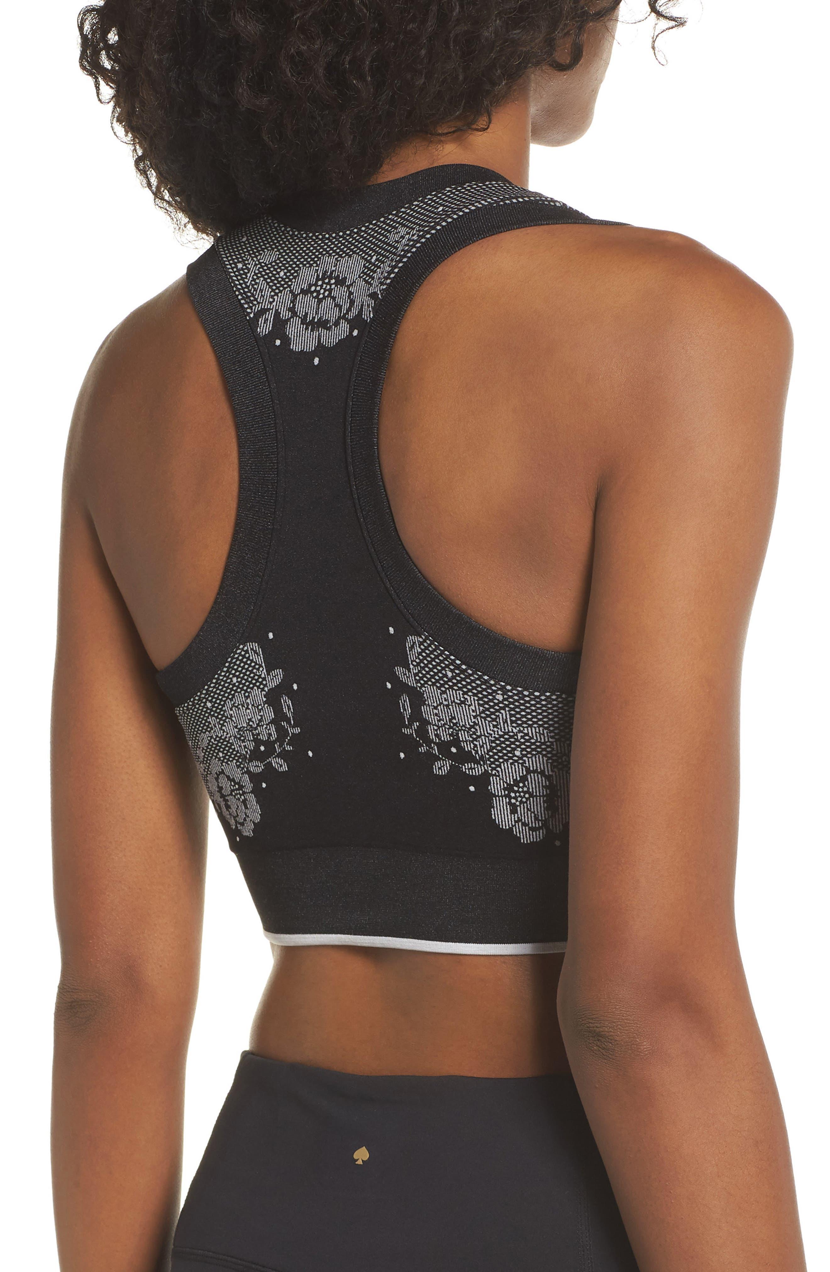 longline sports bra,                             Alternate thumbnail 2, color,                             BLACK