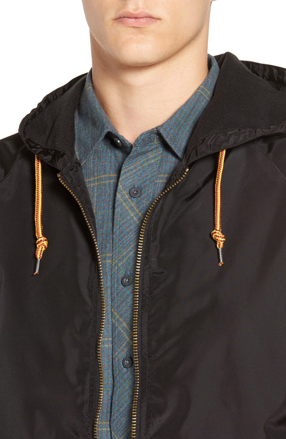 'Claxton' Water Repellent Windbreaker,                             Alternate thumbnail 4, color,                             001