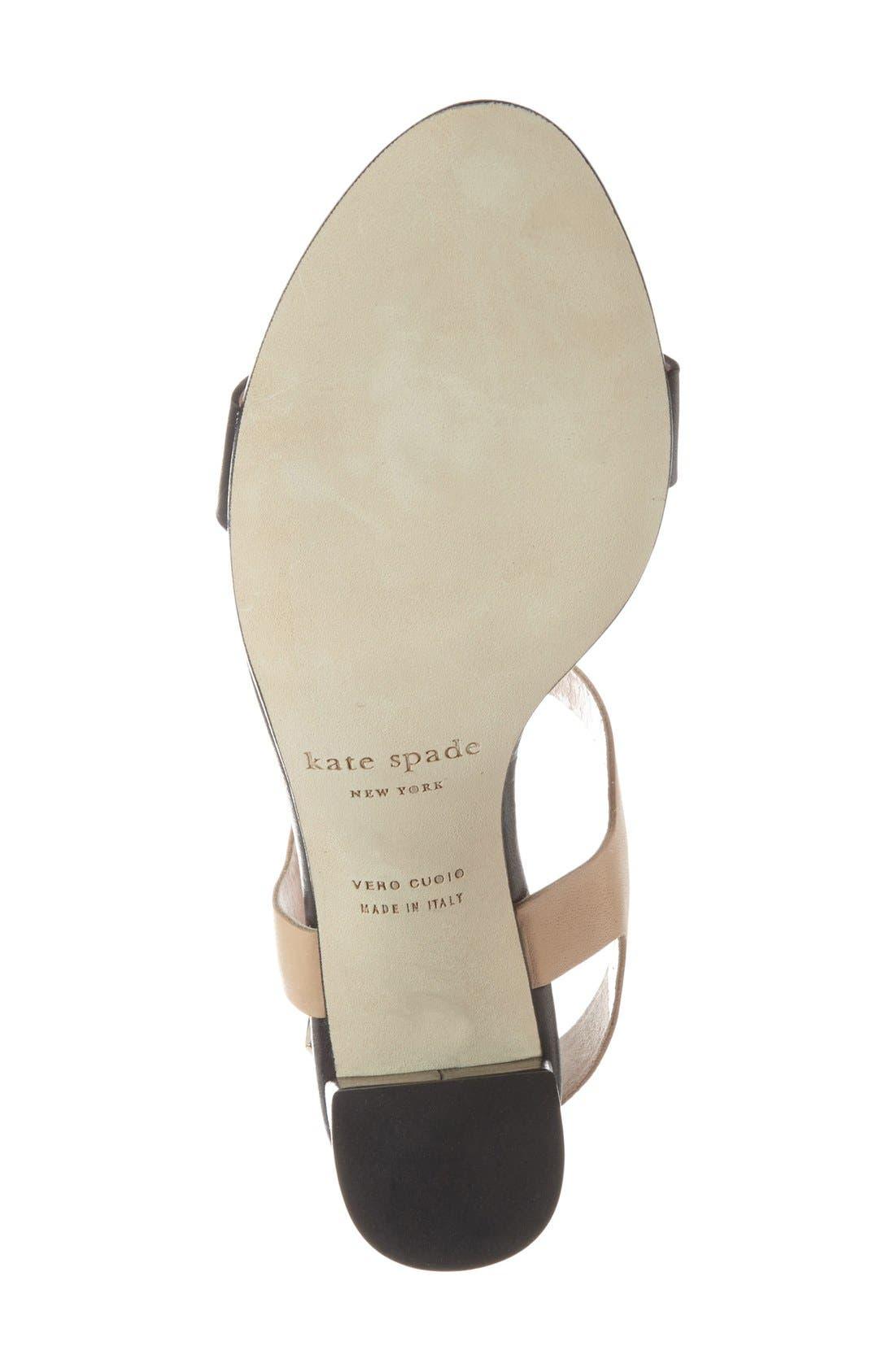 'addie' block heel t-strap sandal,                             Alternate thumbnail 3, color,                             003