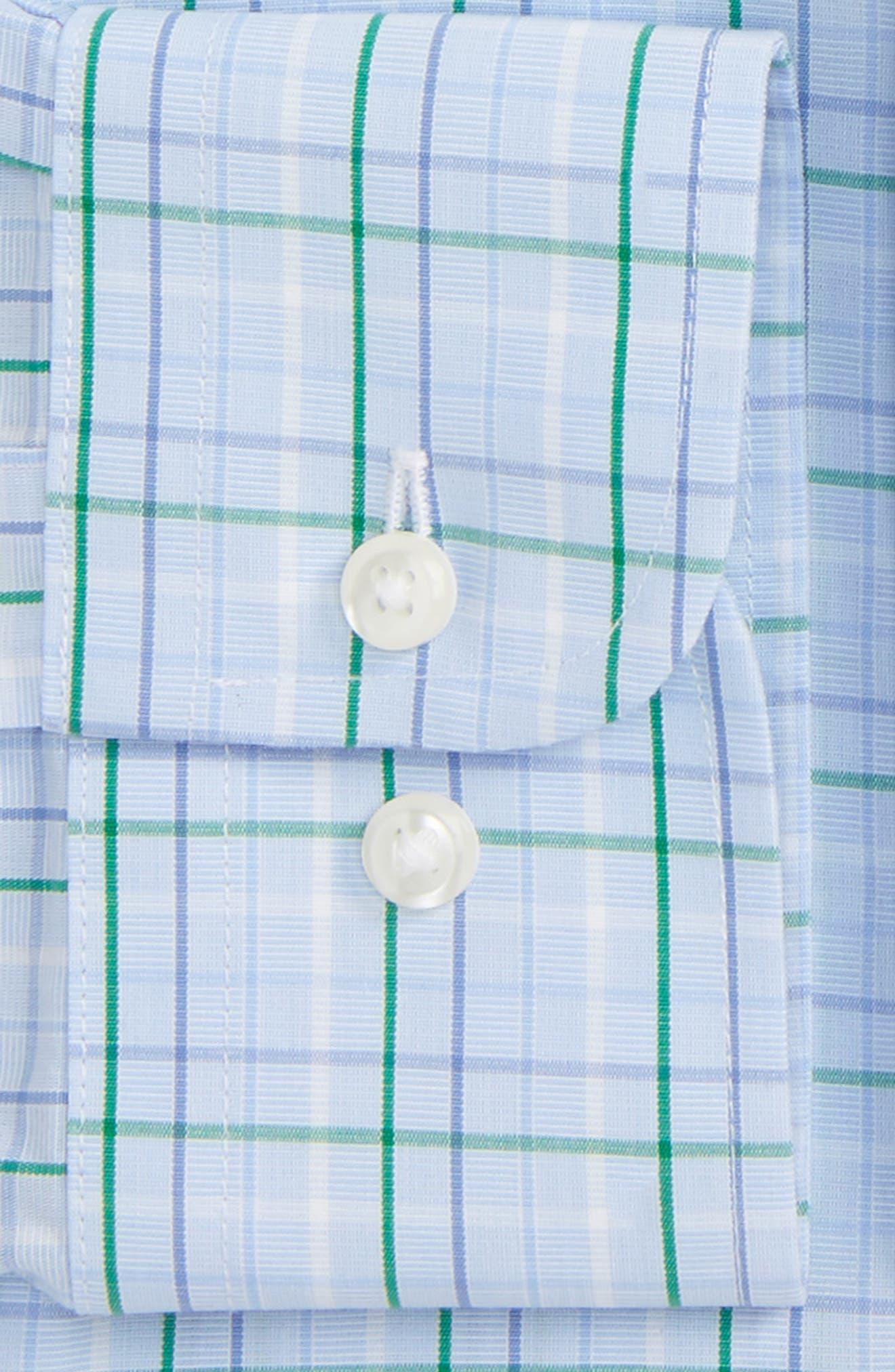 Smartcare<sup>™</sup> Traditional Fit Plaid Dress Shirt,                             Alternate thumbnail 3, color,